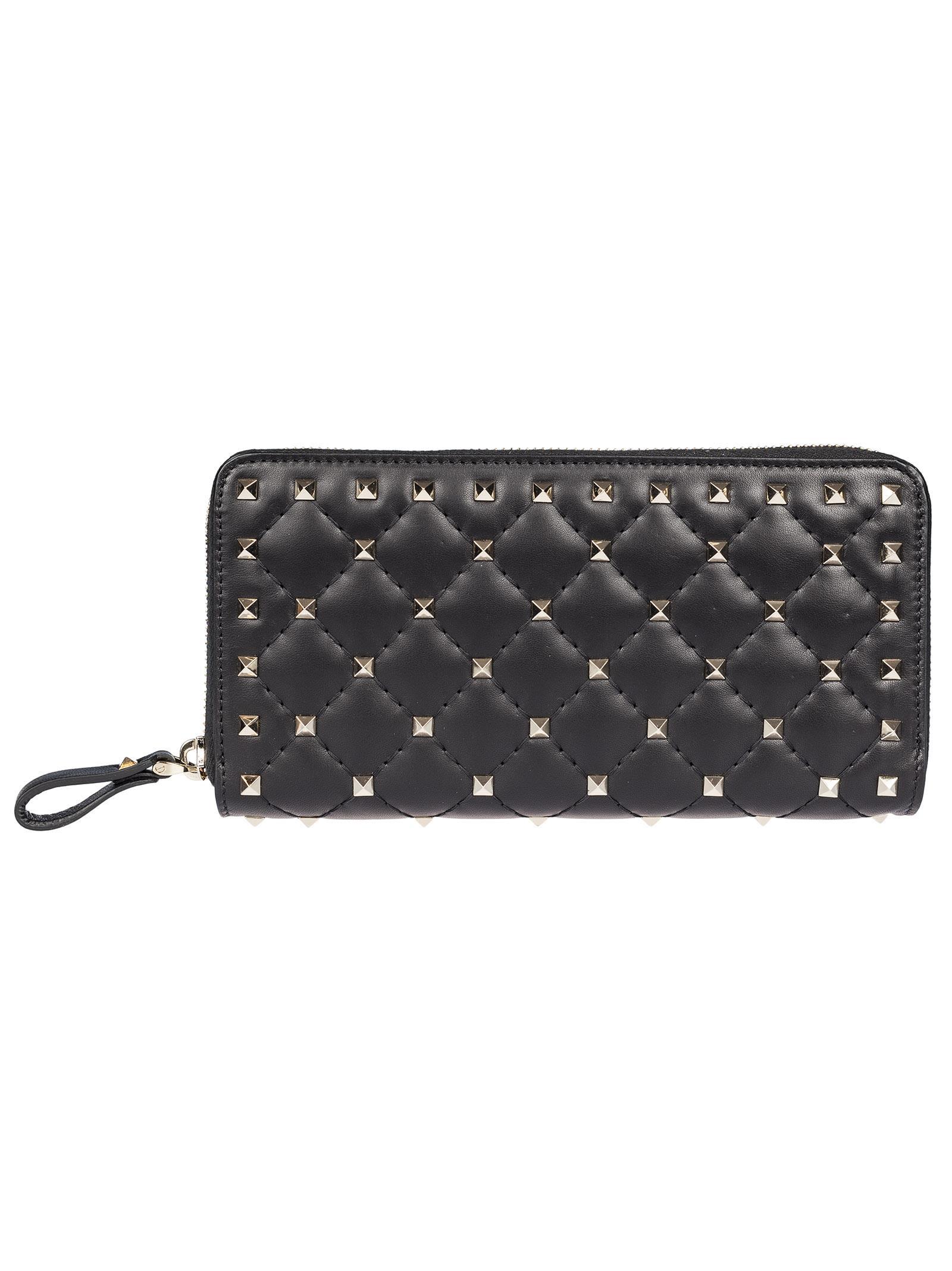 Valentino Rockstud Spike Zip Around Wallet  5e2f79a6cda3f