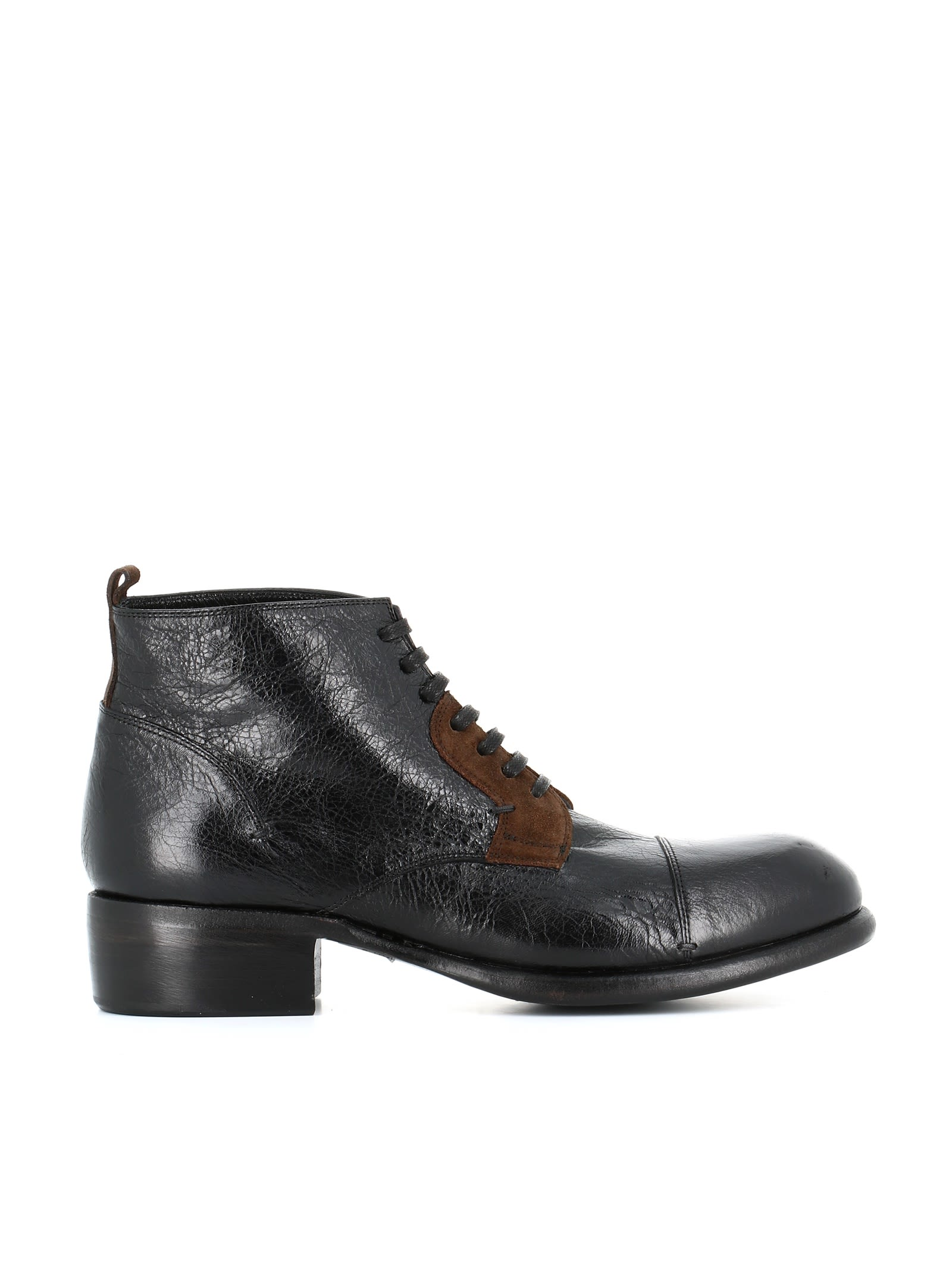 """ROCCO P. Lace-Up Boots """"7012"""" in Black"""