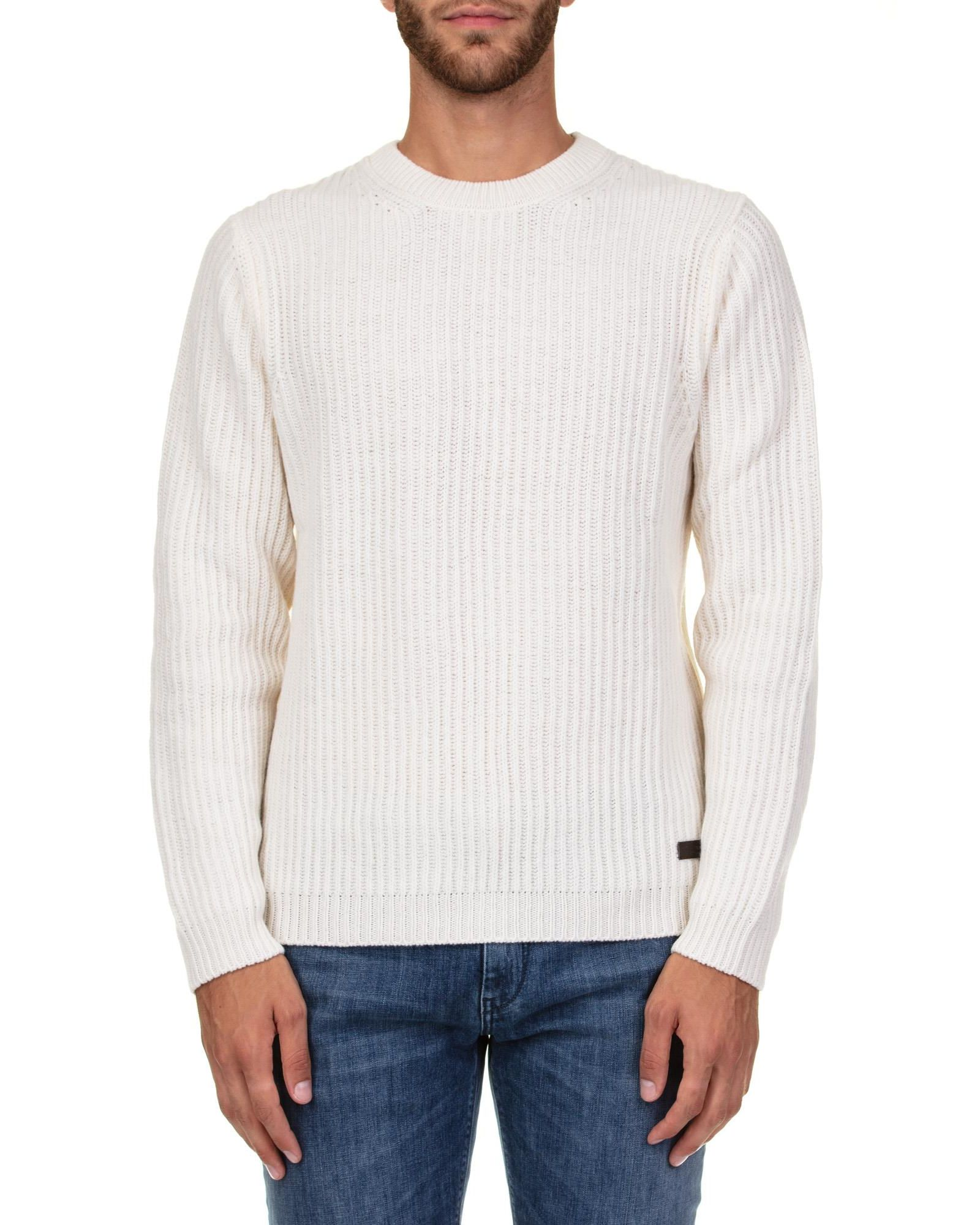 TRUSSARDI Wool Sweater in Ivory