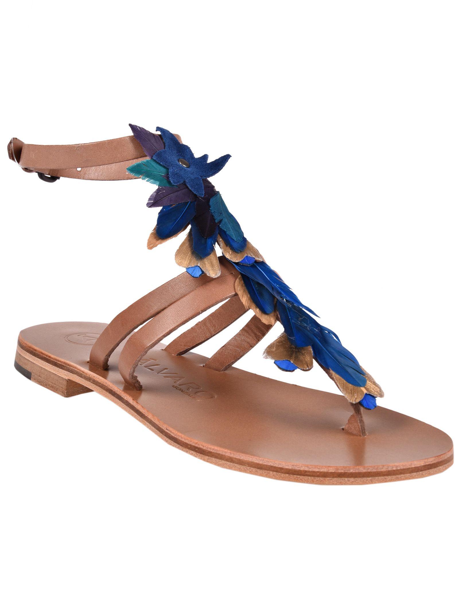 Cheap Sale With Mastercard álvaro álvaro Ariana Flat Sandals Cheap Recommend 3mOcWY7