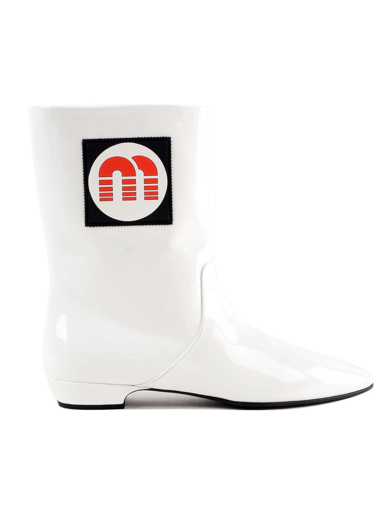 miu miu -  Vernice Ankle Boots