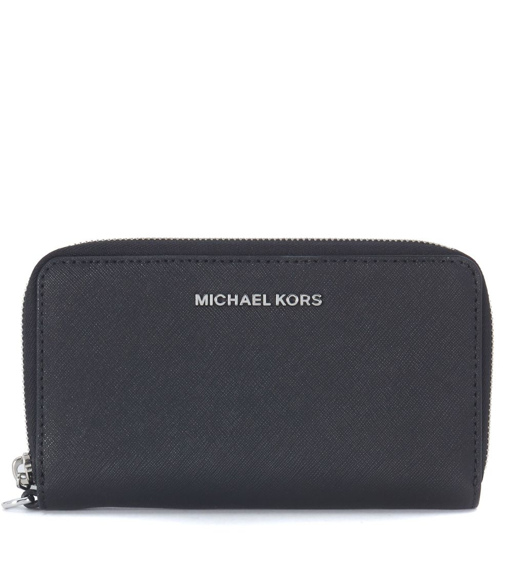 Michael Kors Jet Set Travel Pochette In Black Saffiano Leather 5959397