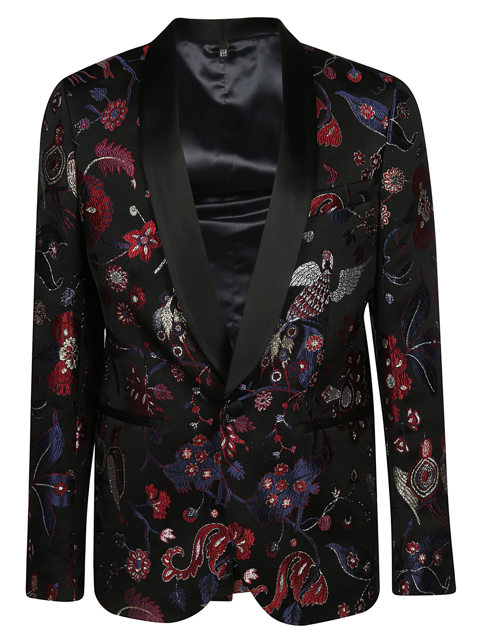 CHRISTIAN PELLIZZARI Single Breasted Smoking Jacket in Black