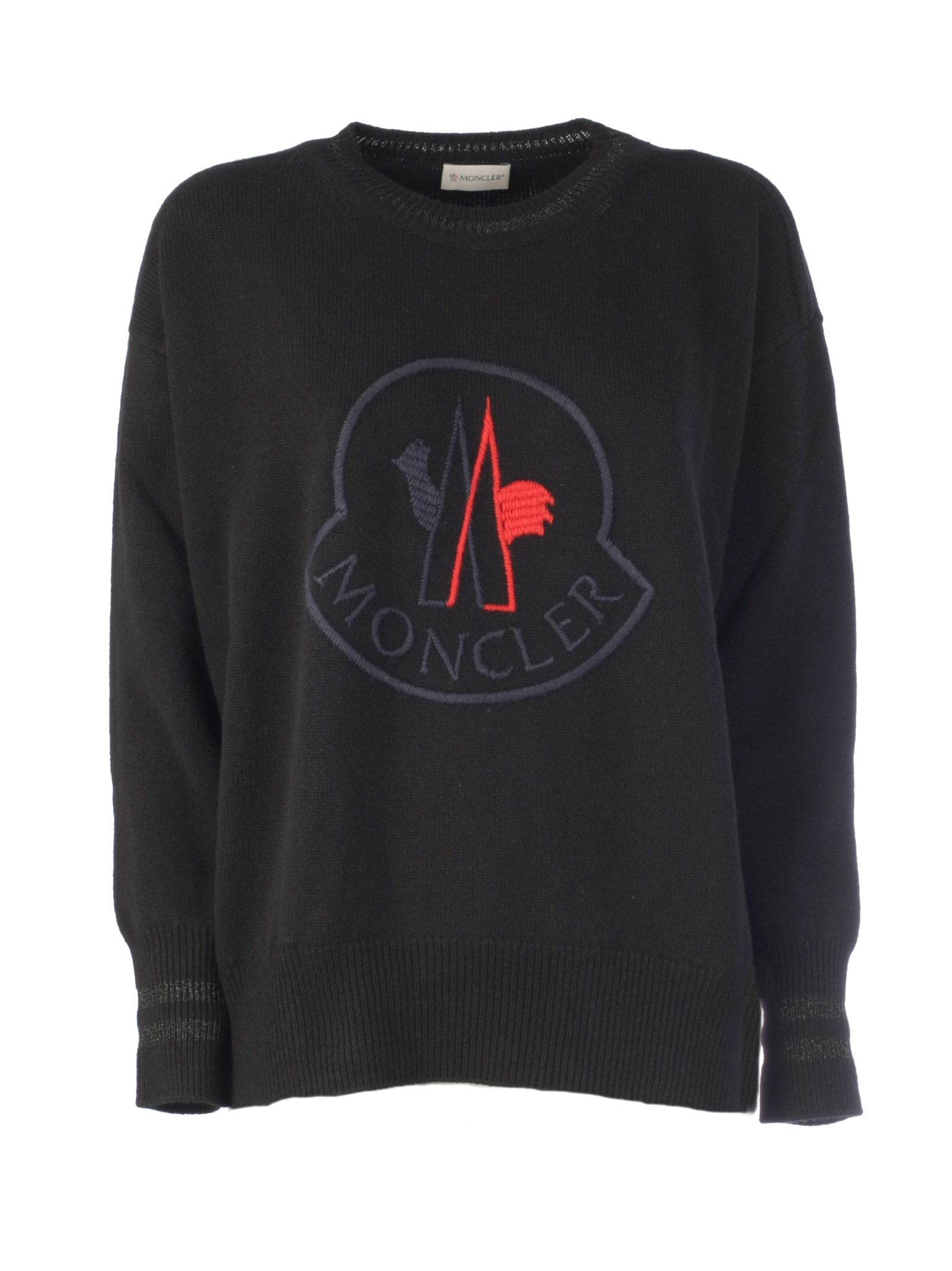 Moncler Clothing EMBROIDERED LOGO SWEATER