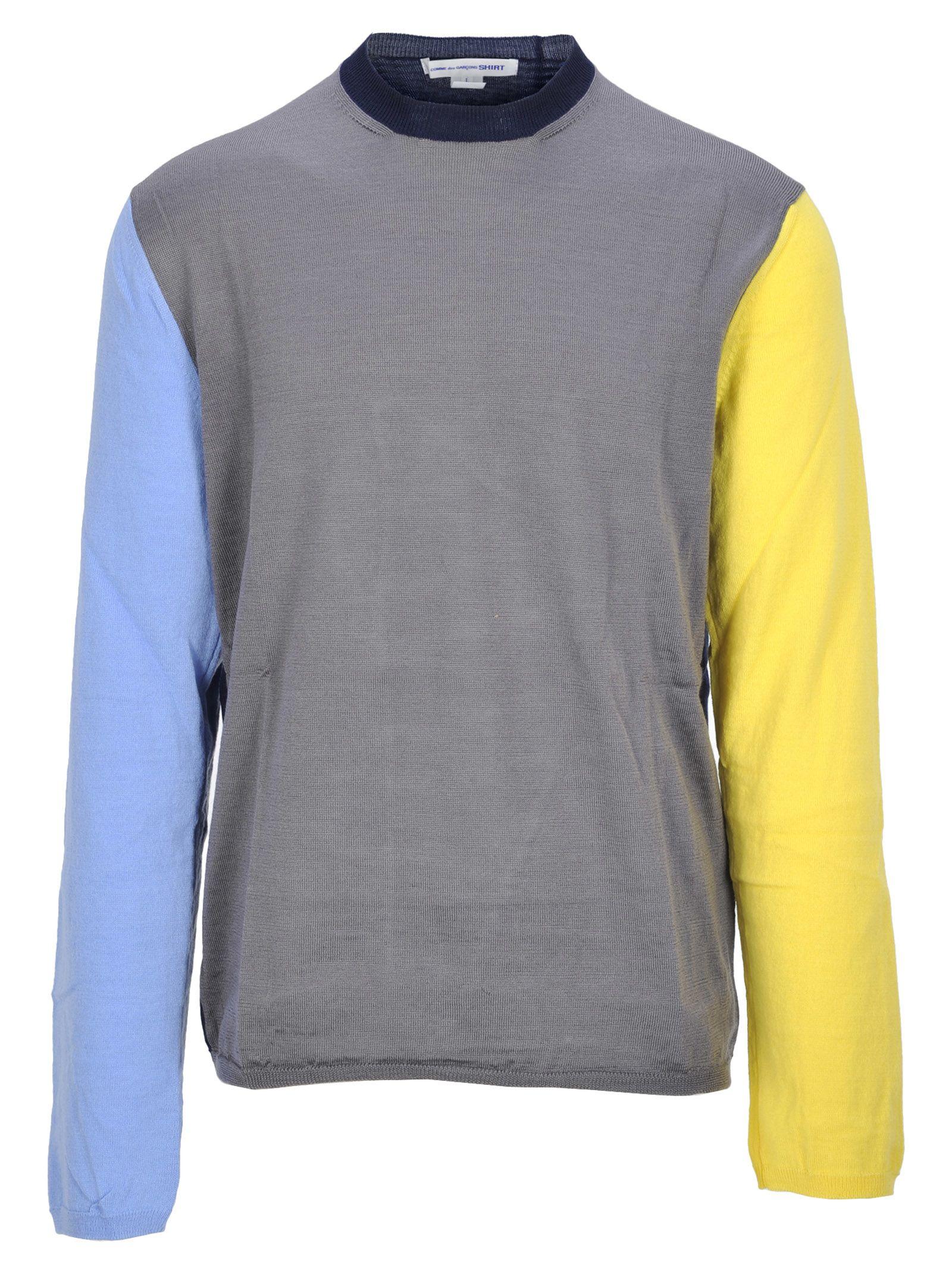 COMME DES GARÇONS BOYS Comme Des Garçons Boy Round Neck in Grey Yellow