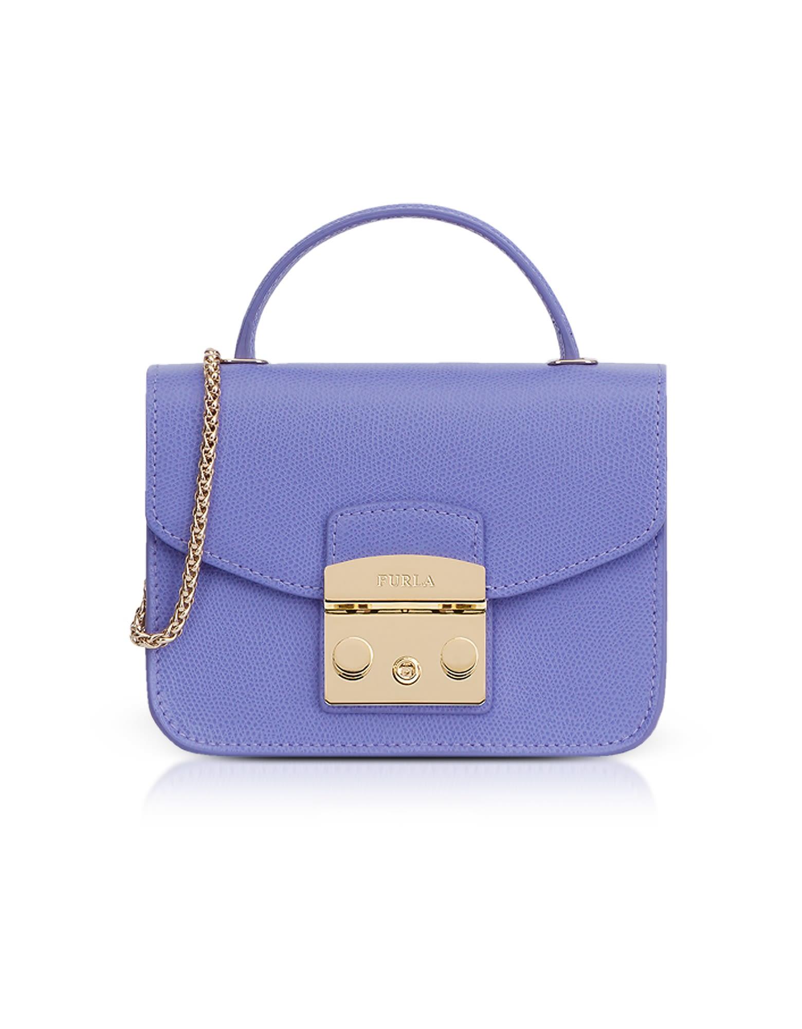 Metropolis Mini Top Handle Crossbody Bag in Lavender