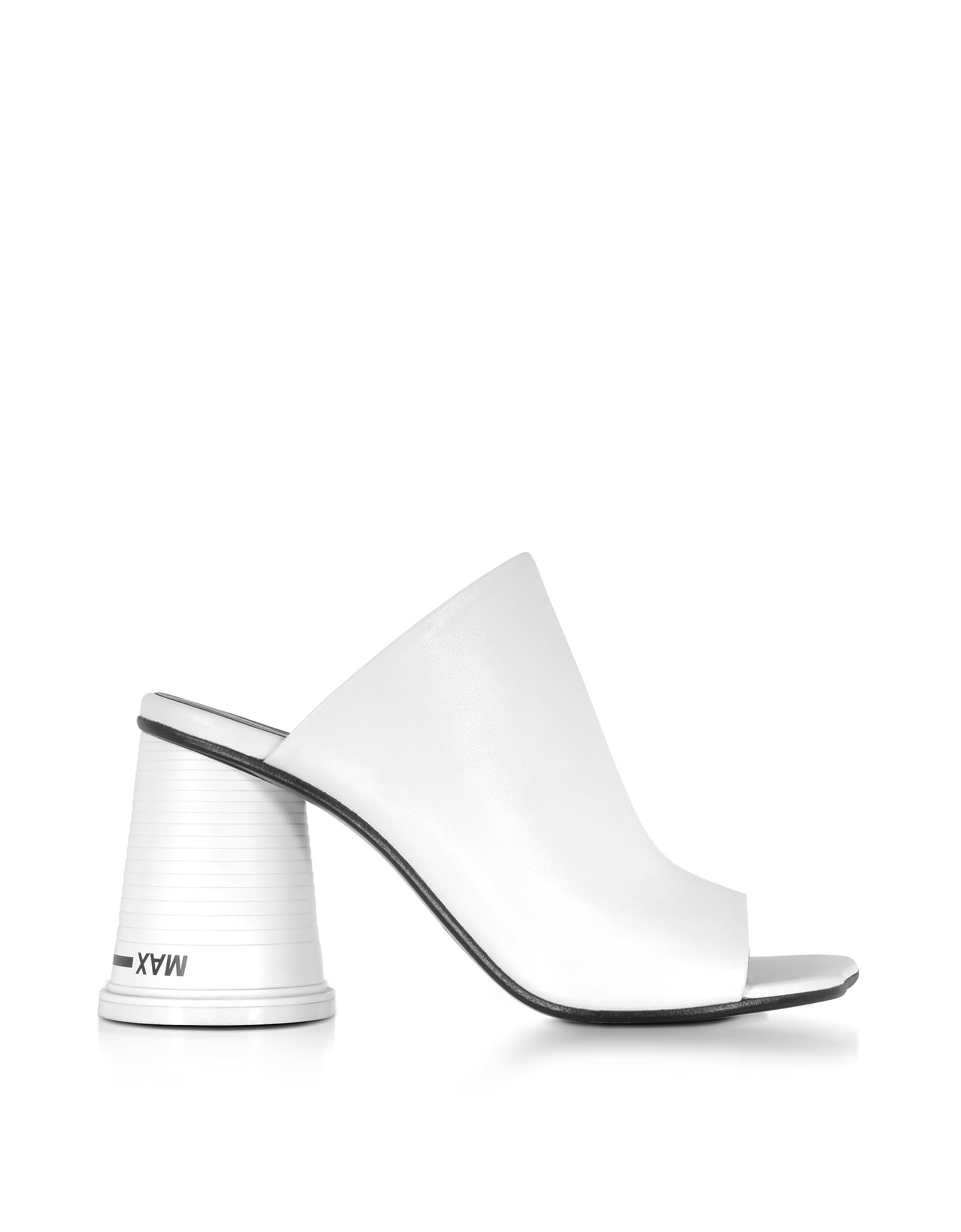 Maison Martin Margiela Designer Shoes, Leather High Heel Slide Sandals