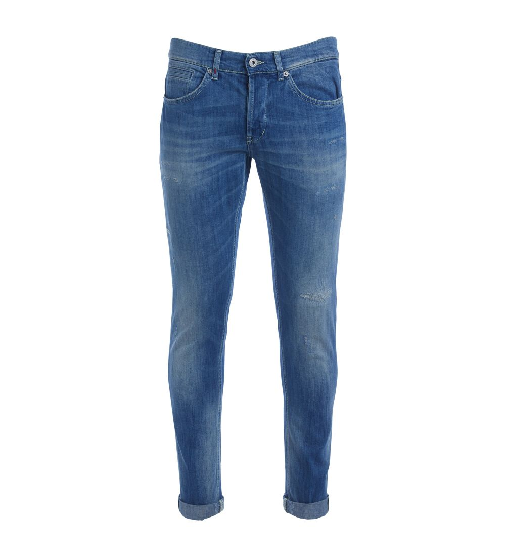 Don Dup Model George Medium Blue Washing Ripped Jeans 6475794