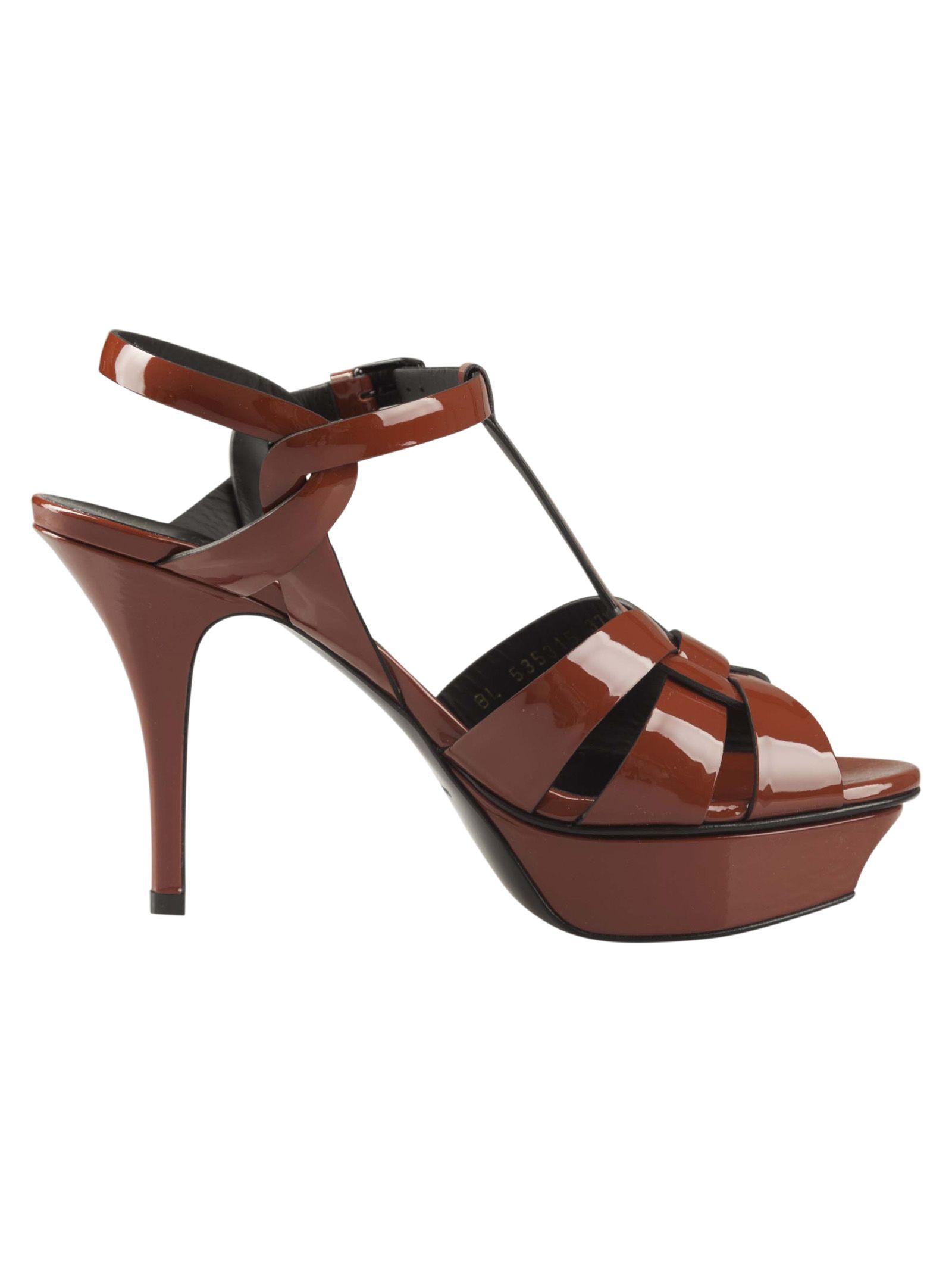 Saint Laurent Tribute 105 Wedge Sandals