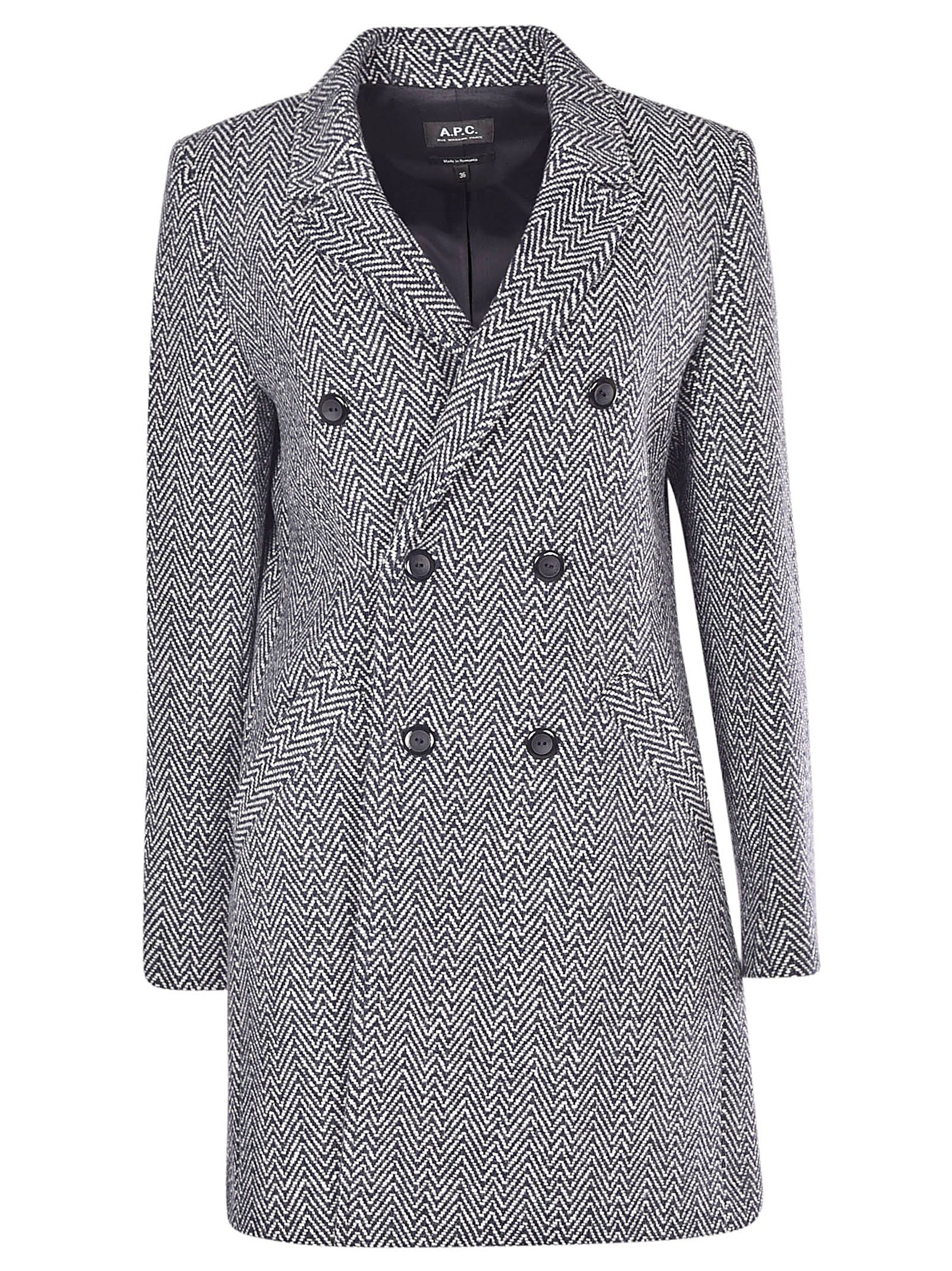 A.P.C. A.P.C. PATTERNED COAT