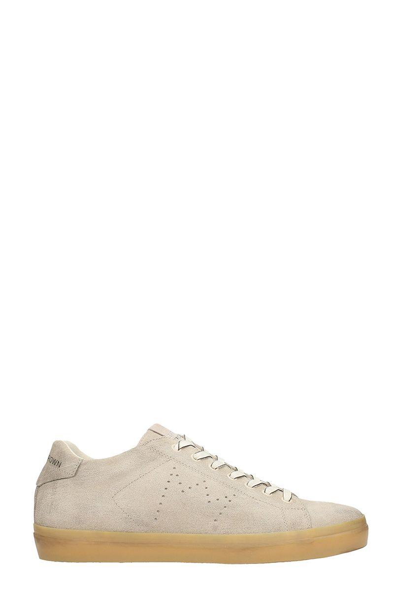 Leather Crown Nabuk Beige Sneakers