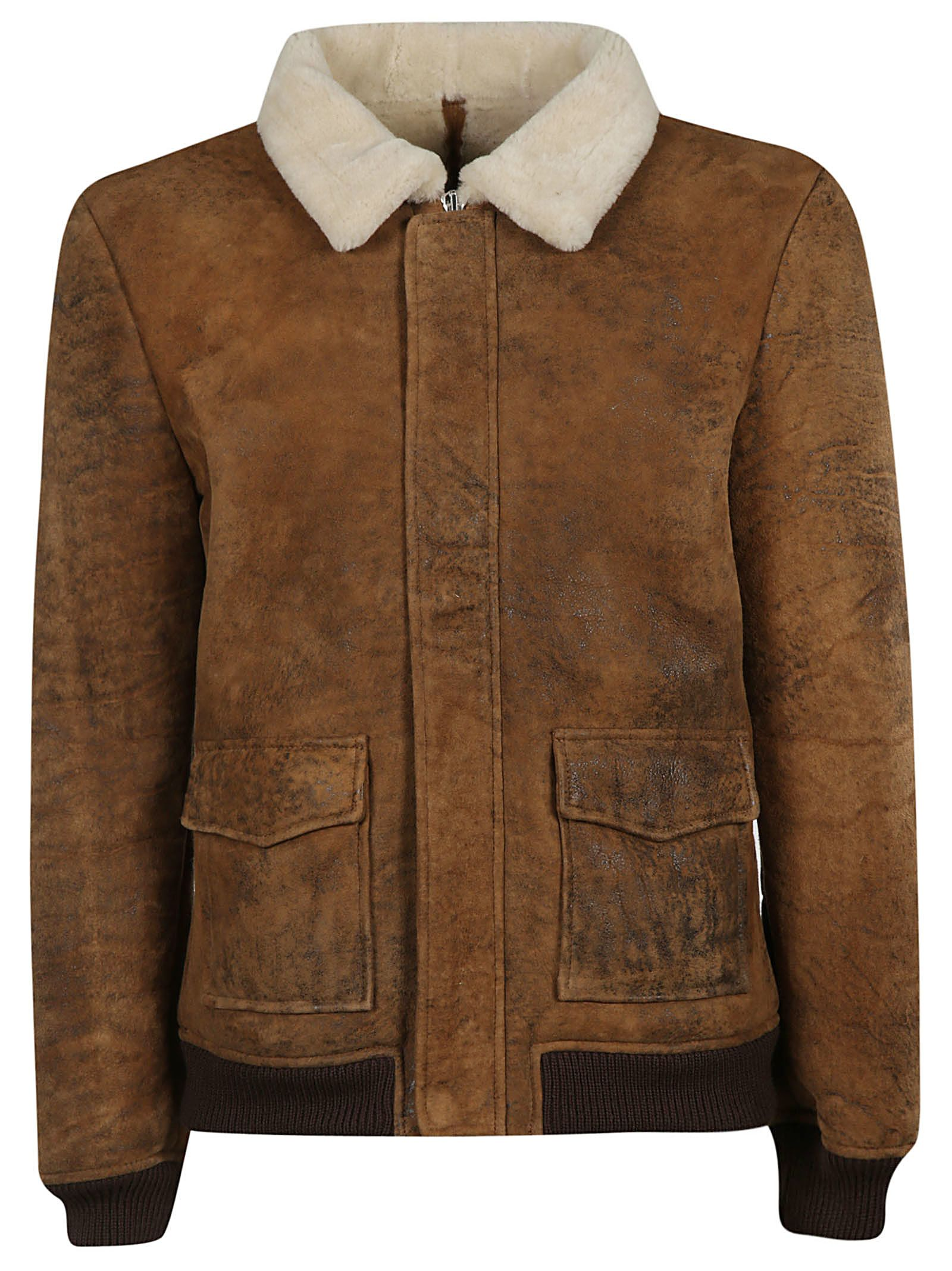 S.W.O.R.D 6.6.44 Vintage Biscuit Shearling Jacket - Neutrals