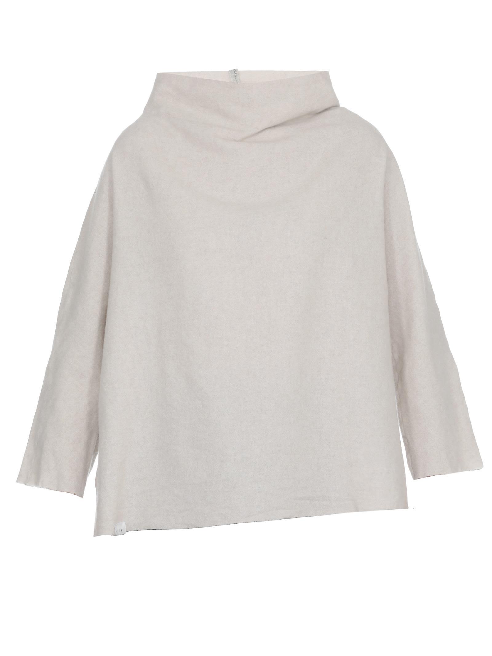 ALBUM DI FAMIGLIA Wool And Cashmere Sweater in Off White
