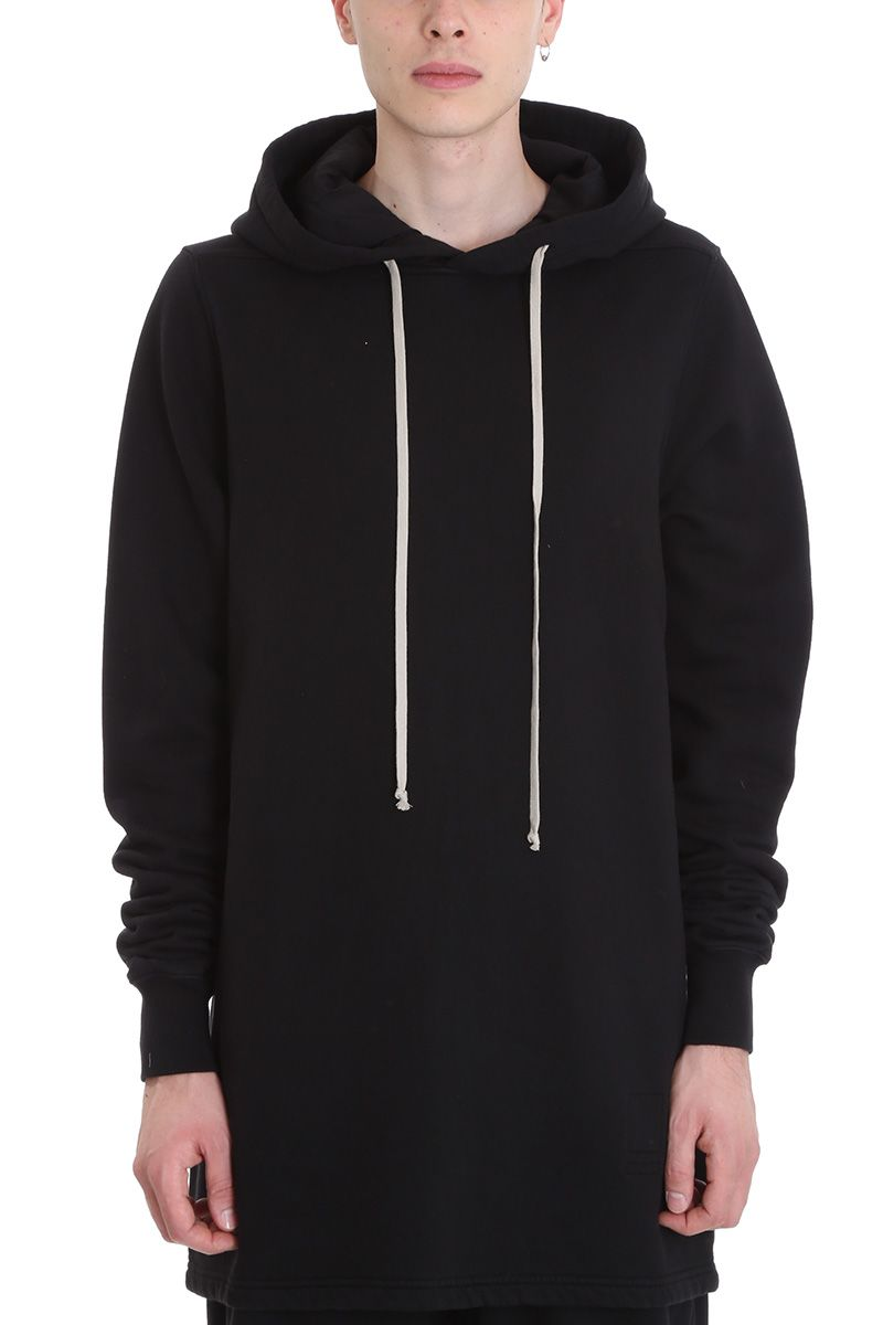 BLACK COTTON HOODIE from Italist.com