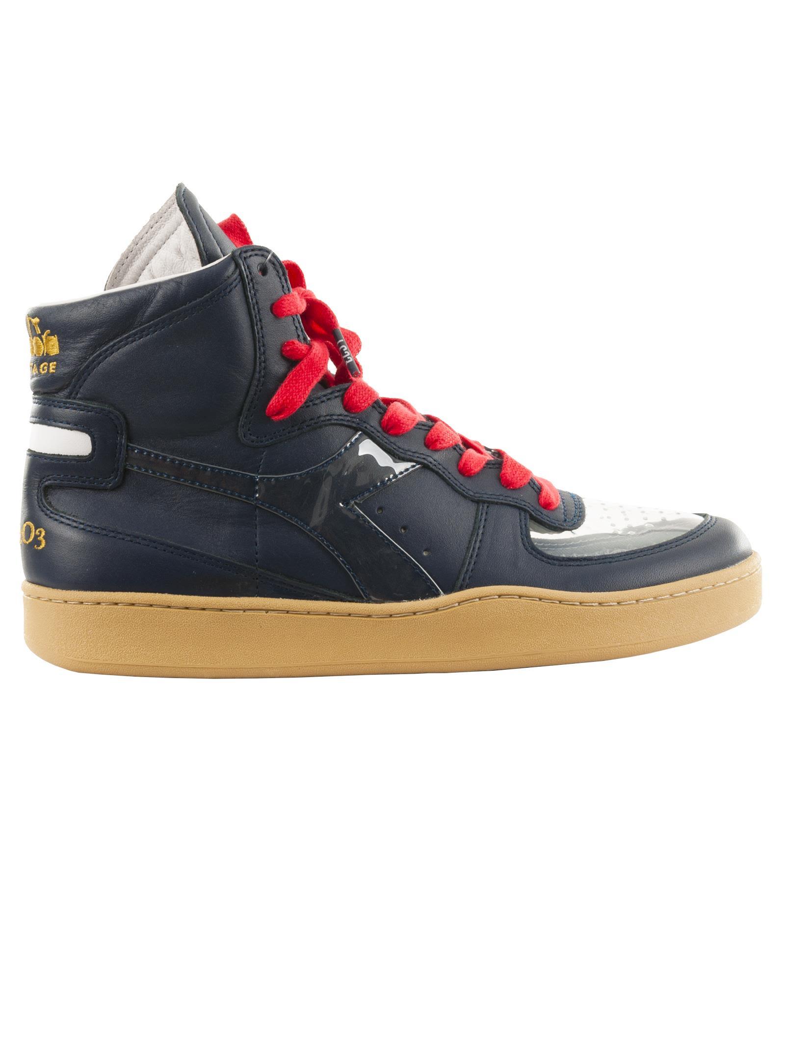 DIADORA Lc23 Mi Basket Marte Hi Top Sneakers in Navy