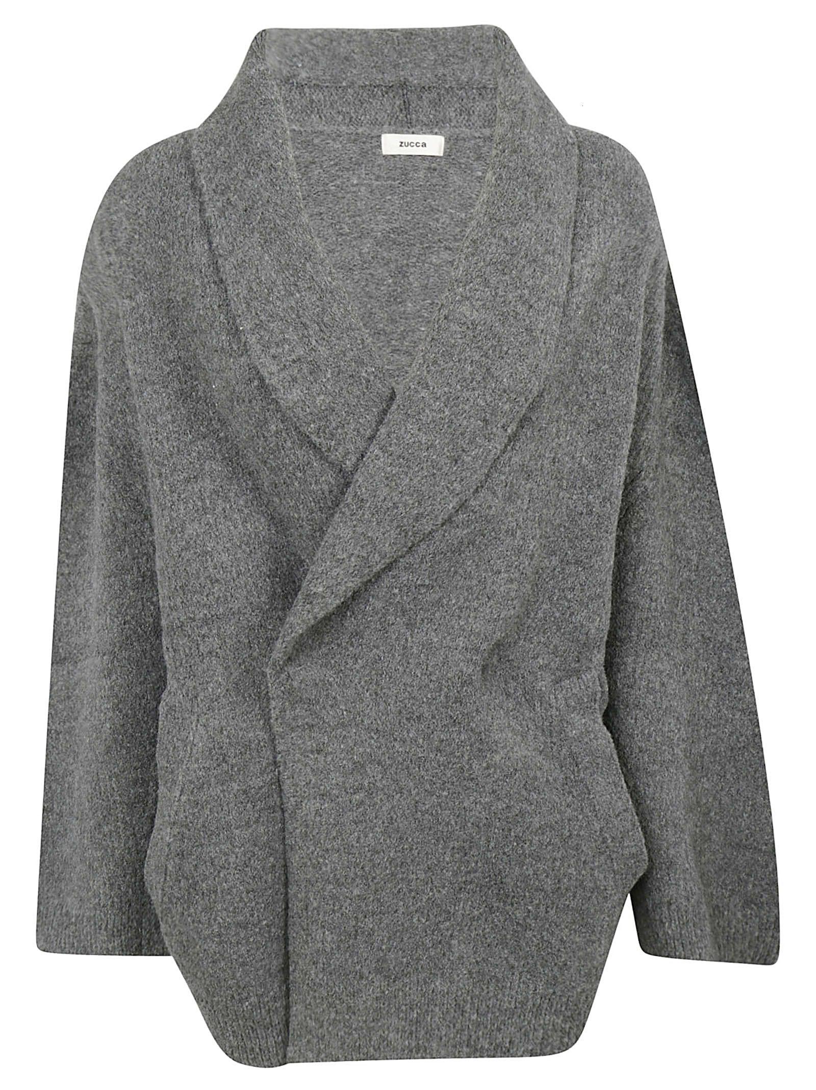 ZUCCA Wrap Style Cardigan in Grey