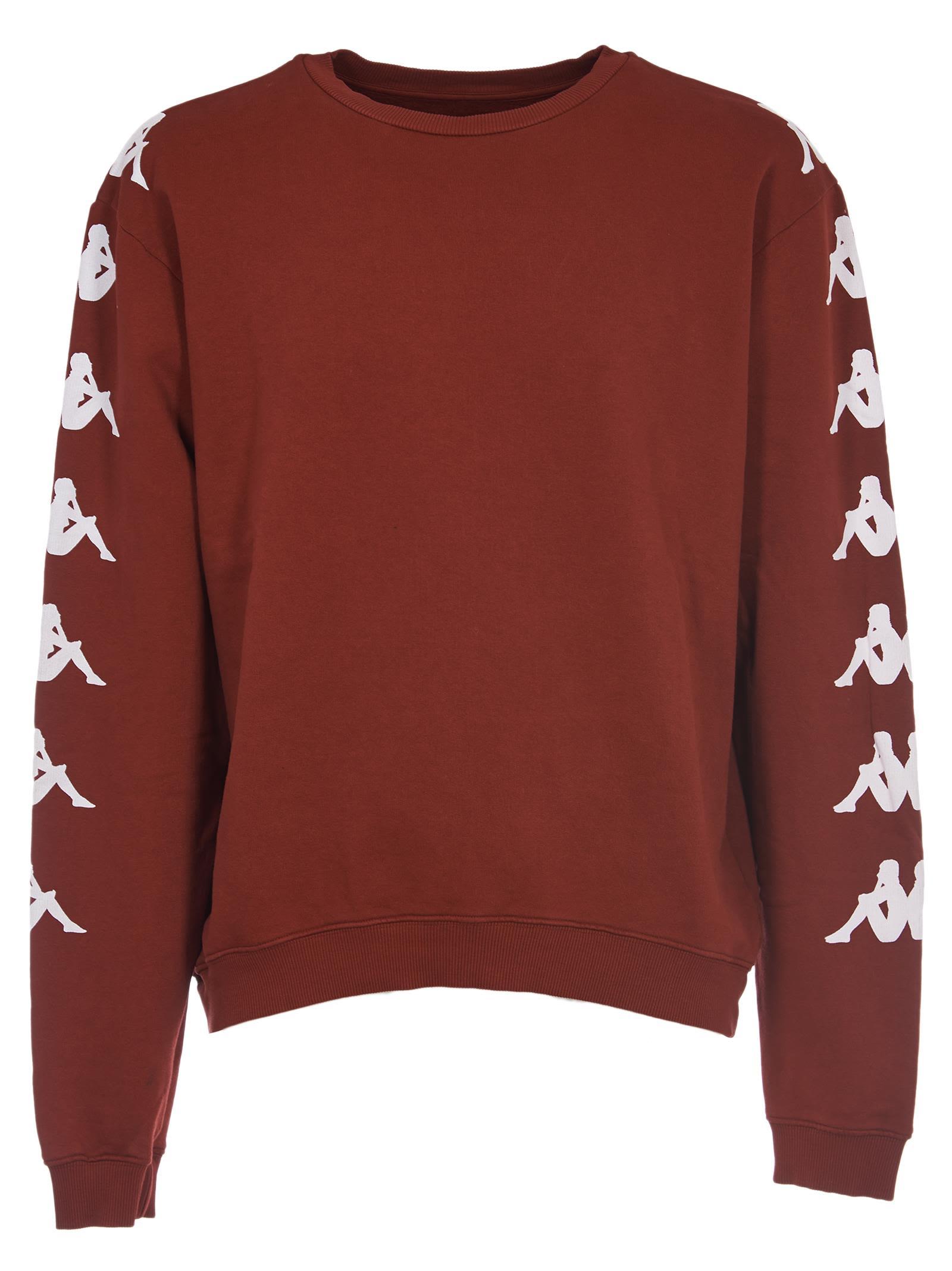 DANILO PAURA Logo Sleeve Sweatshirt in Bordeaux