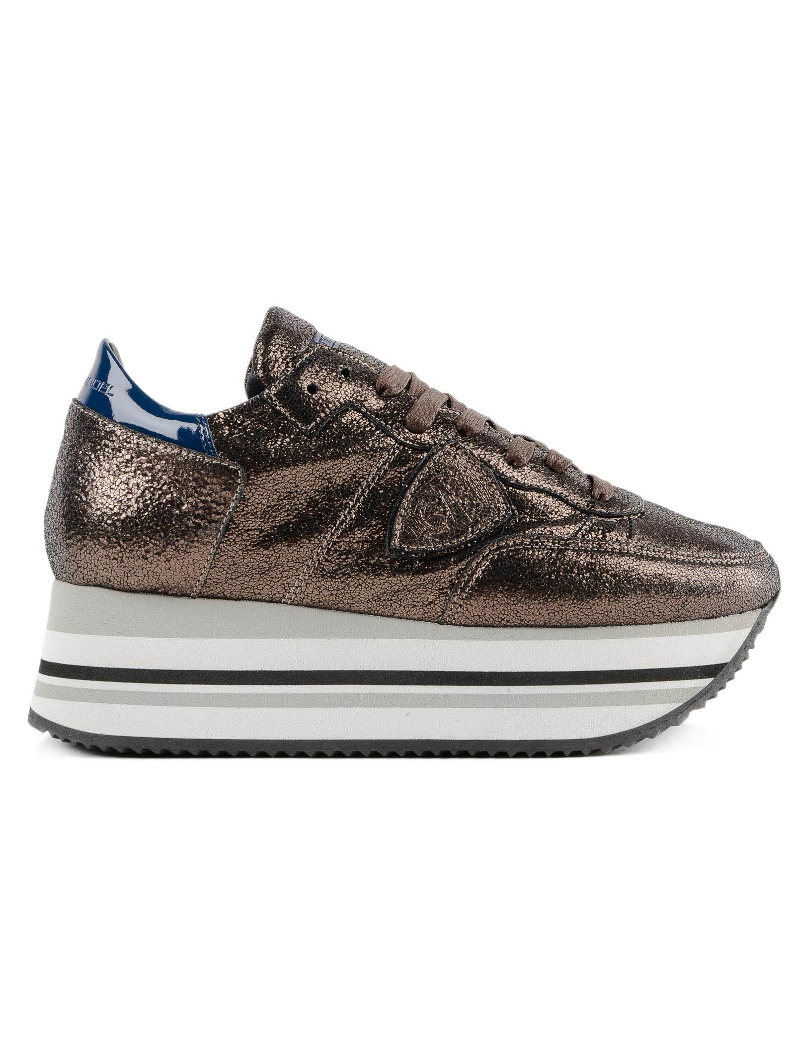 Philippe Model Glitter Platform Sneakers