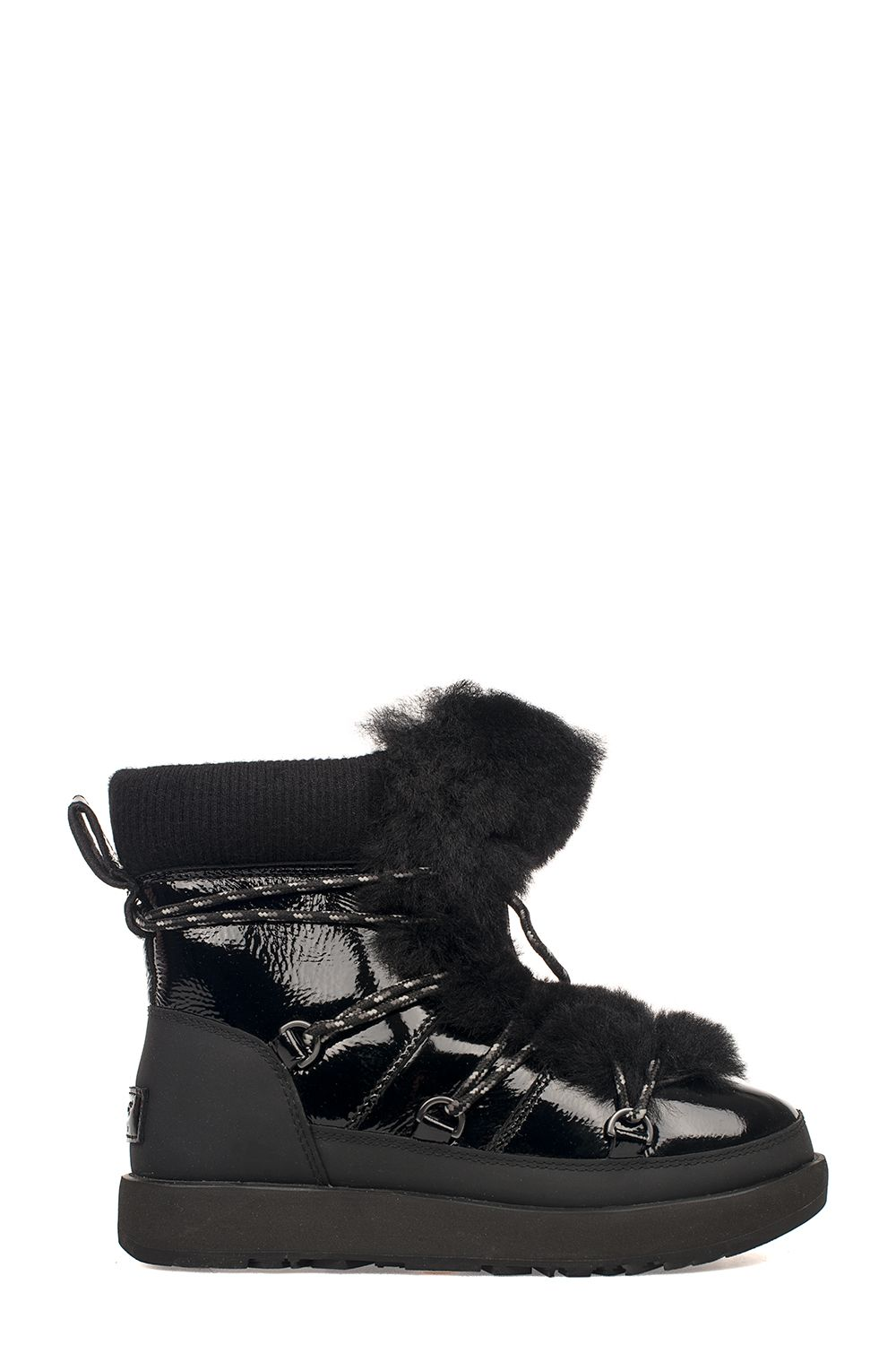 Black Patent Leather Highland Waterproof Low Boot