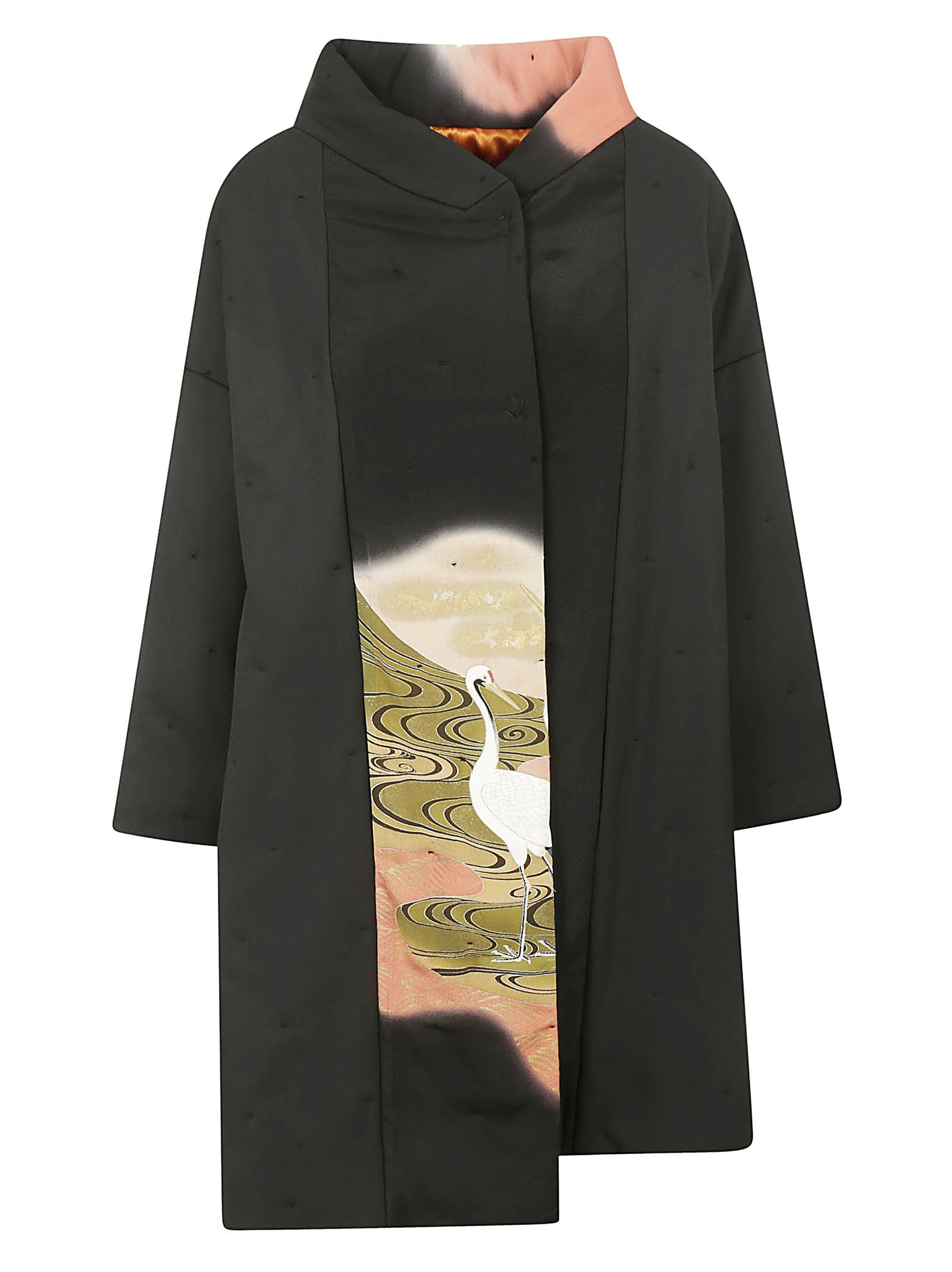 IBRIGU Egret Print Overcoat in Fantasy1