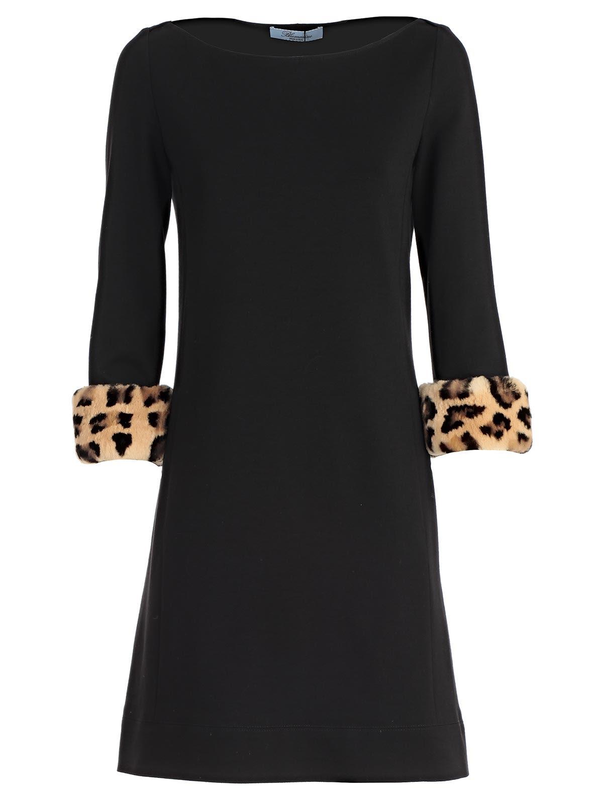 BLUMARINE LEOPARD PRINT CUFF DRESS