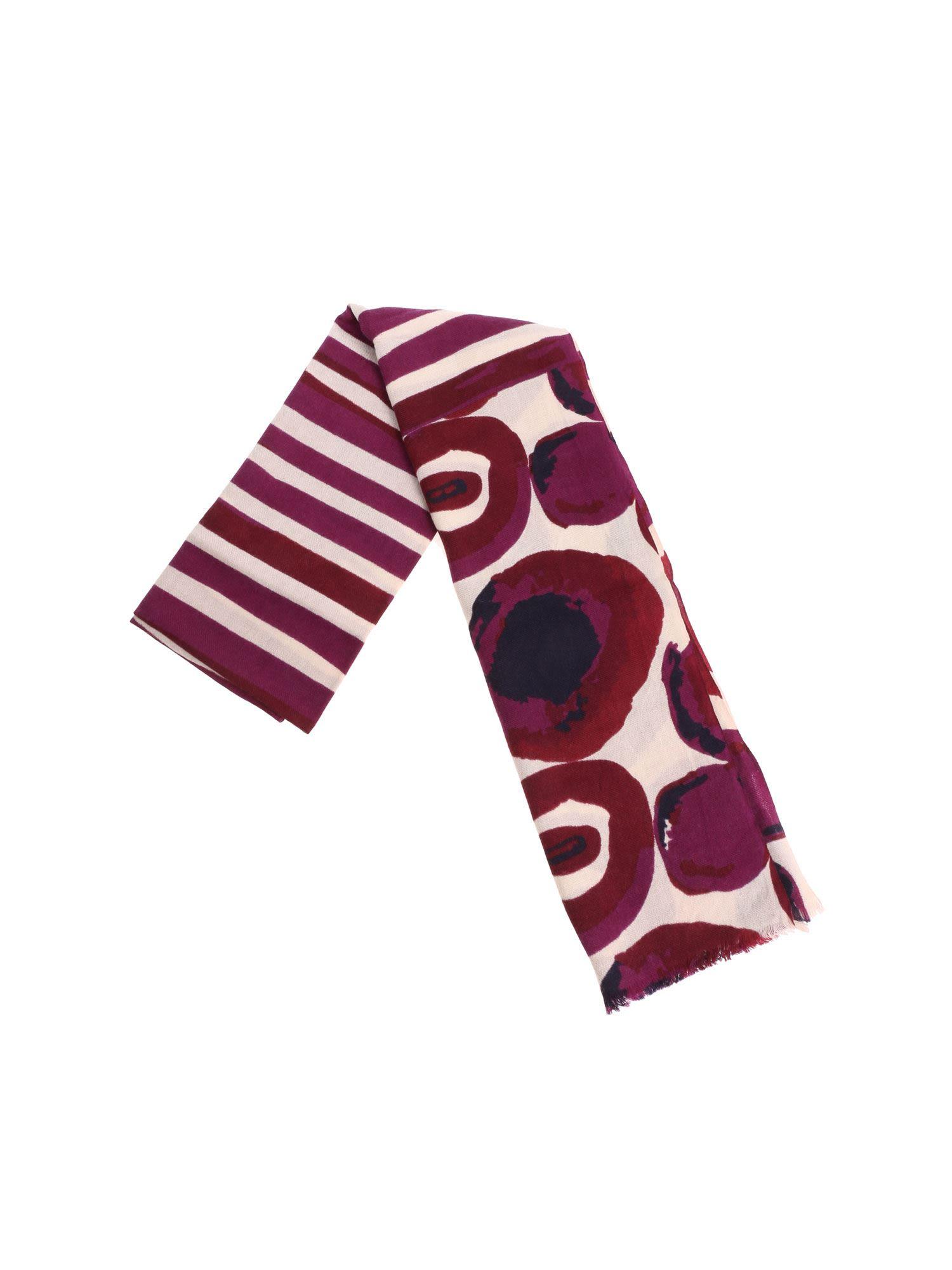 ALTEA Patterned Scarf in Purple