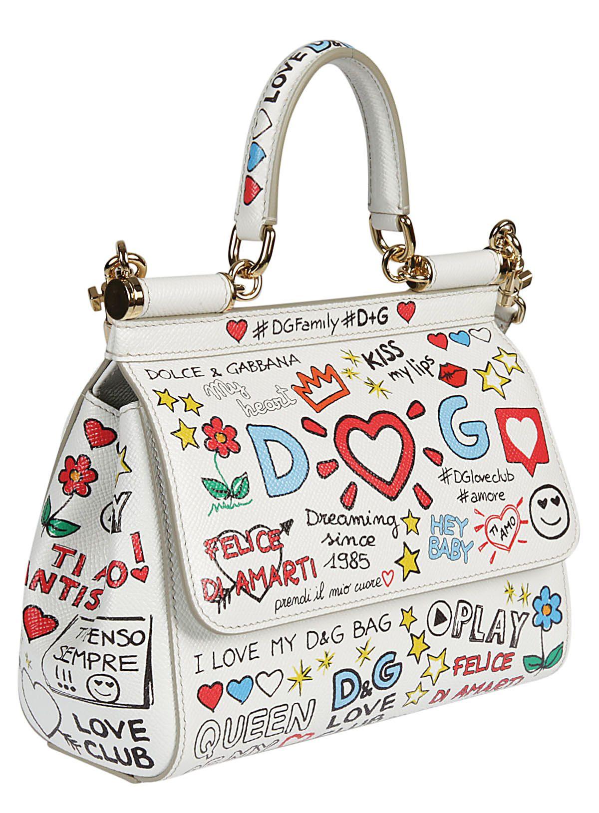 small Sicily mural print shoulder bag - White Dolce & Gabbana k18kk4Ab