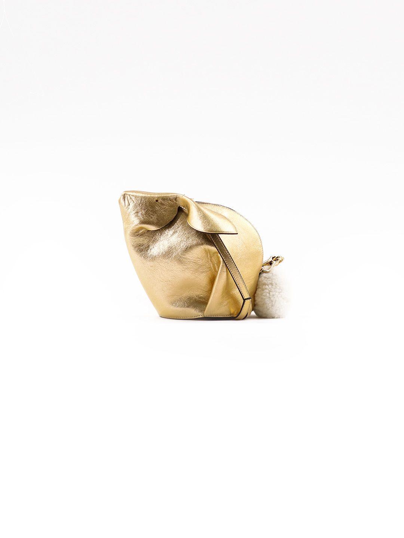 LOEWE GOLD-TONED BUNNY BAG
