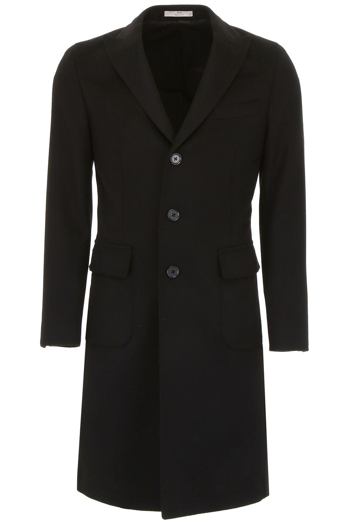 CC COLLECTION CORNELIANI Wool Coat in Black