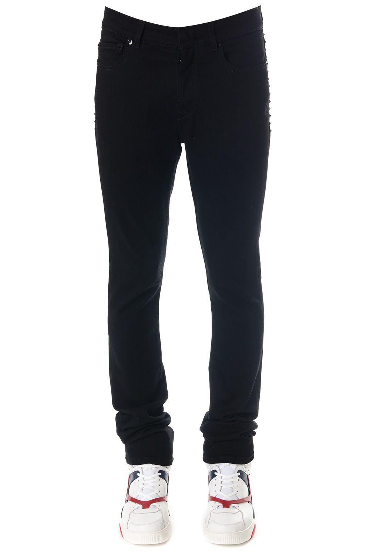 Valentino Rockstud Black Cotton Denim Jeans 10614301