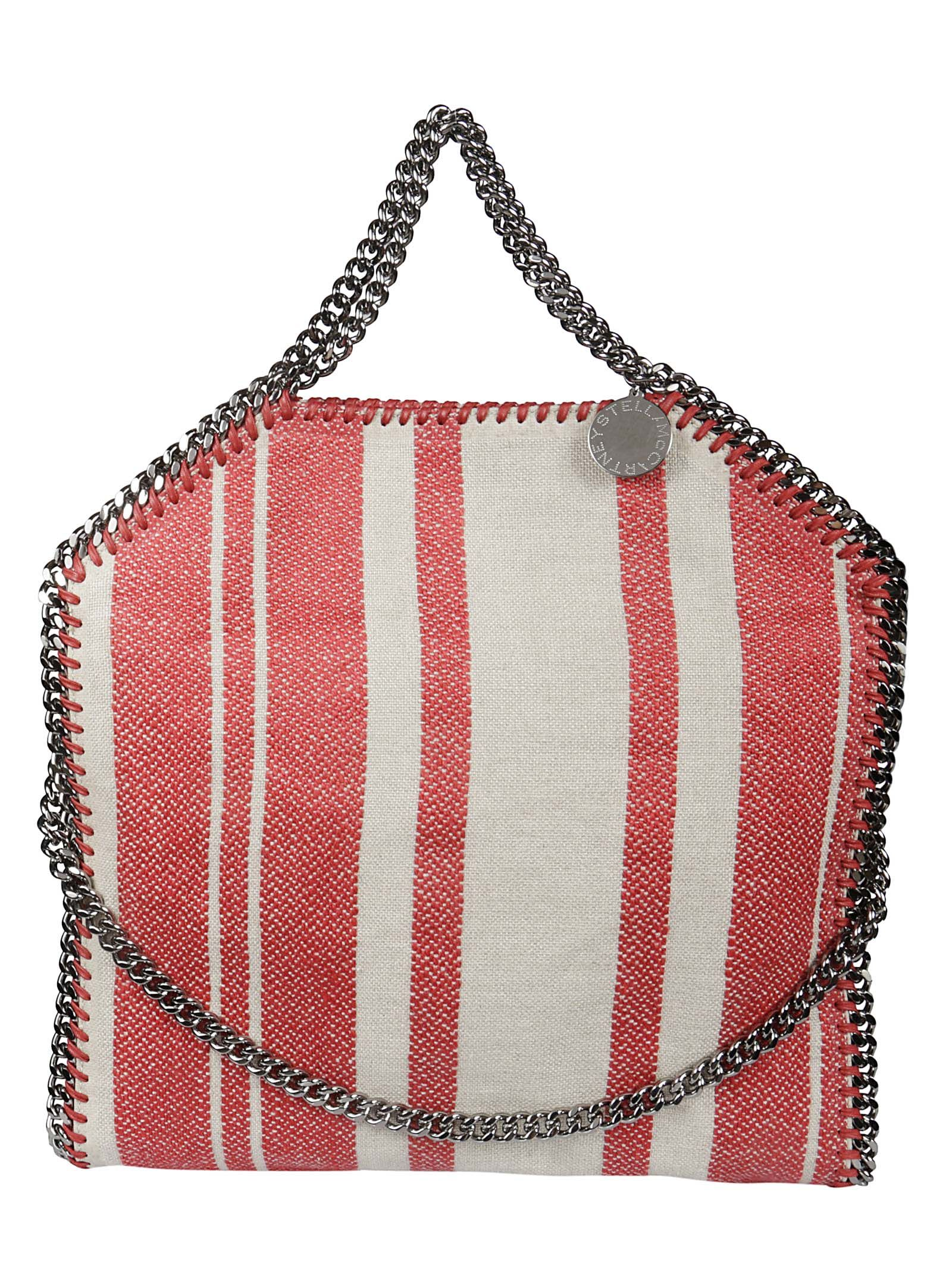 STELLA MCCARTNEY FALABELLA STRIPED TOTE