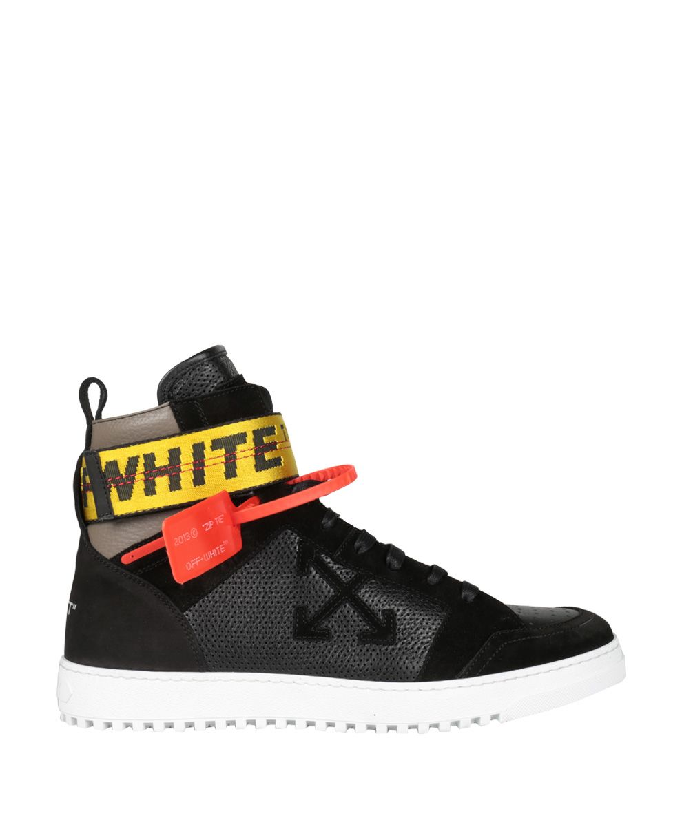 Rubber Rings For Men >> Off-White - Off-White Leather High-top Sneakers - NERO, Men's Sneakers | Italist