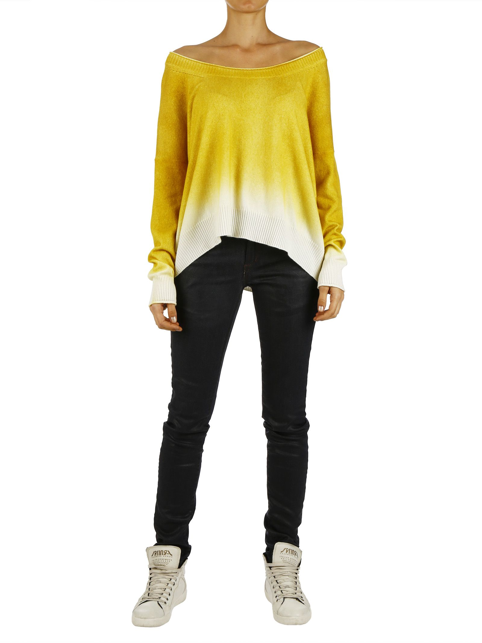 Cashmere CollectionOver Fit Sweater With Shade Effect 453822