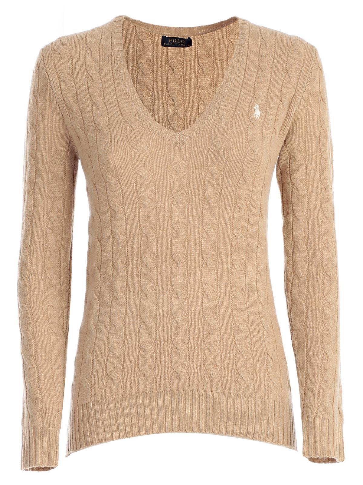 Polo Ralph Lauren Cable Knit V-neck Jumper
