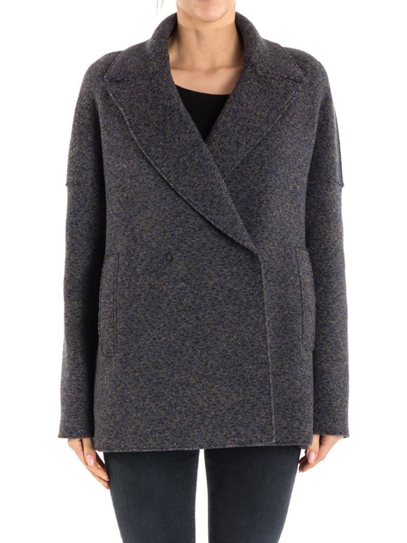 harris wharf london wool coat mostarda 9128523 italist. Black Bedroom Furniture Sets. Home Design Ideas