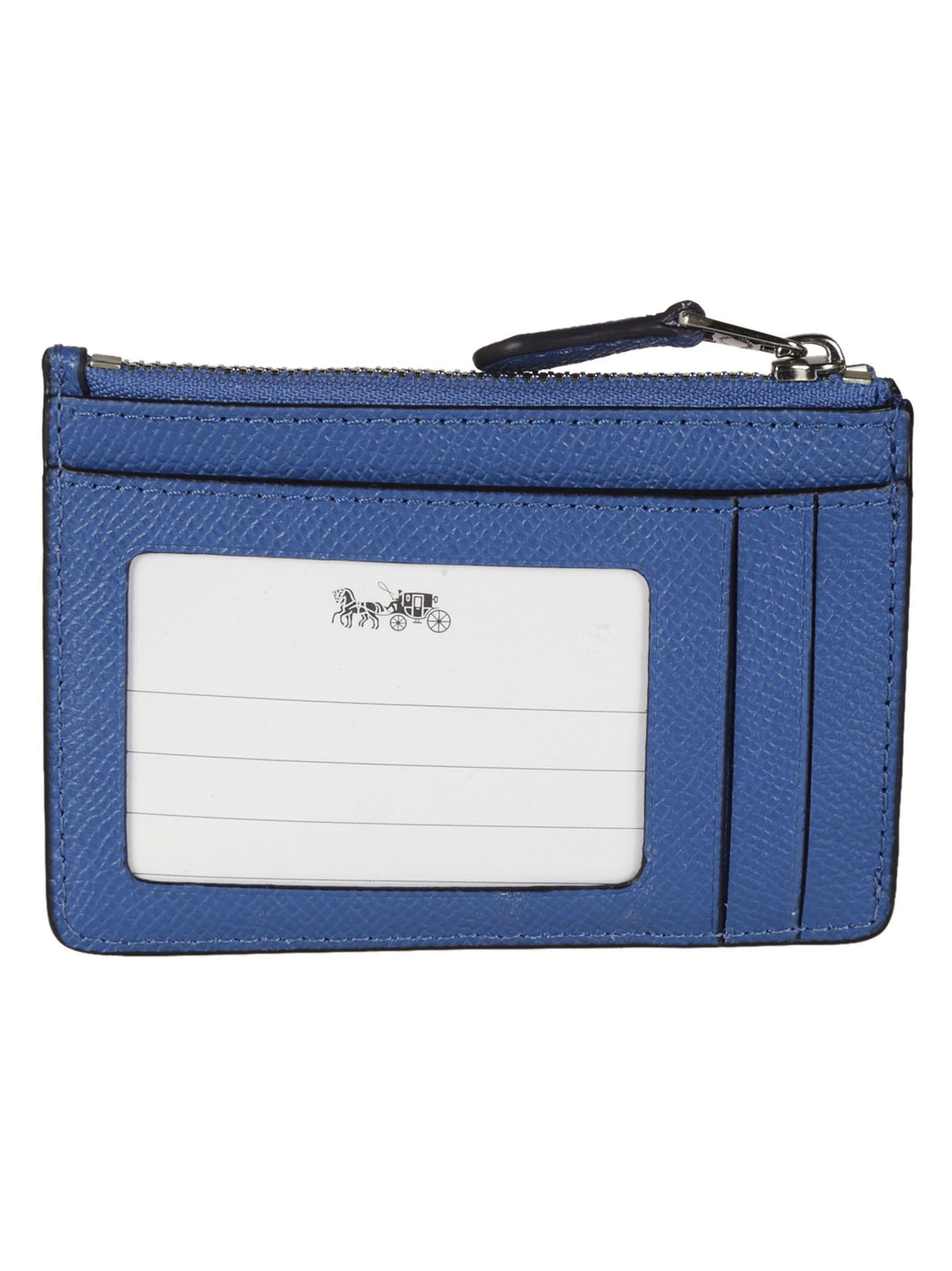 Coach - Coach Mini ID Skinny Card Holder - Blue, Women\'s Wallets ...
