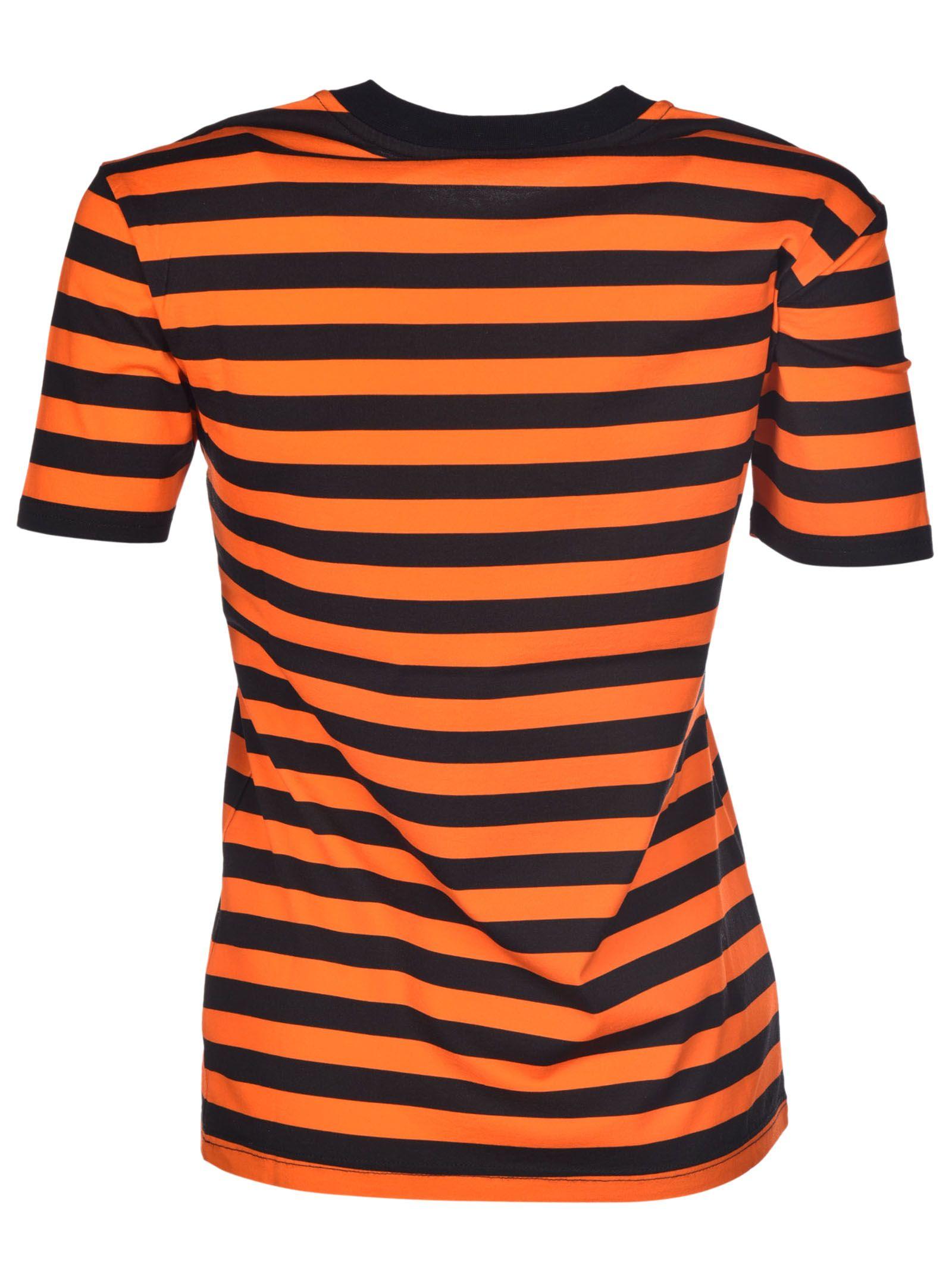 Wonderful Givenchy - Givenchy Striped Flamingo T-Shirt - Orange/Black  MQ28