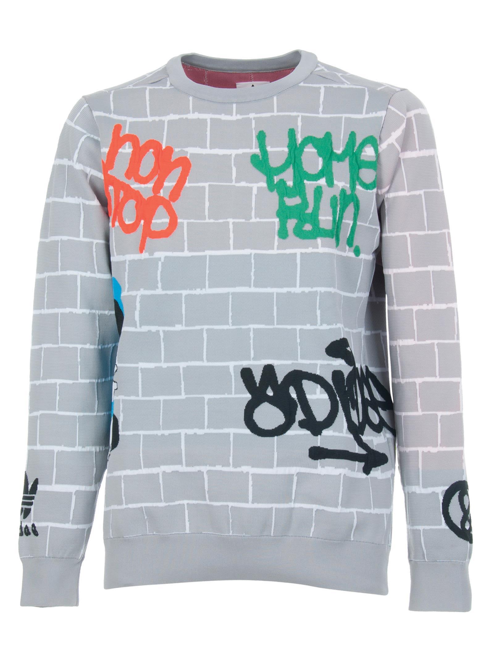ADIDAS ORIGINALS BY UNITED ARROWS & SONS Adidas X United Arrows & Sons Knit Top in Grigio Medio