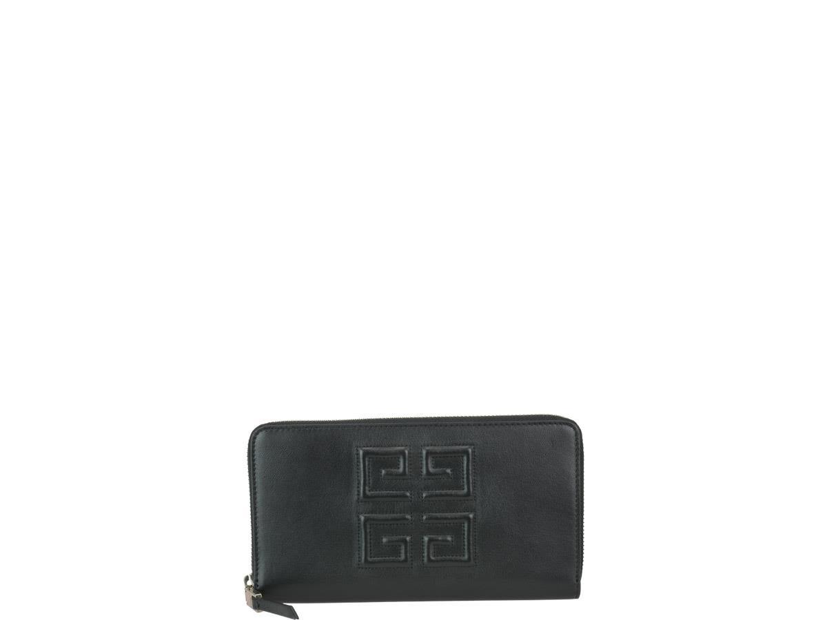 4G Logo Wallet in Black