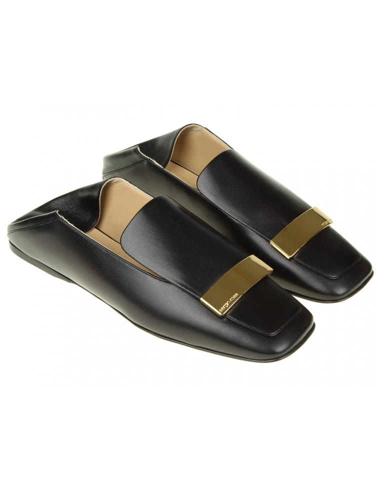 Sergio Rossi Loafers In Leather With Metal Gold Plate Cheap Sale Official Site Discount Price Best Seller Online Cheap Eastbay W29BdApZM