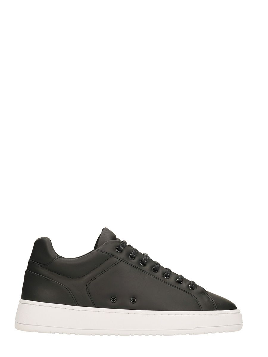 ETQ. LOW 4 BLACK LEATHER SNEAKERS