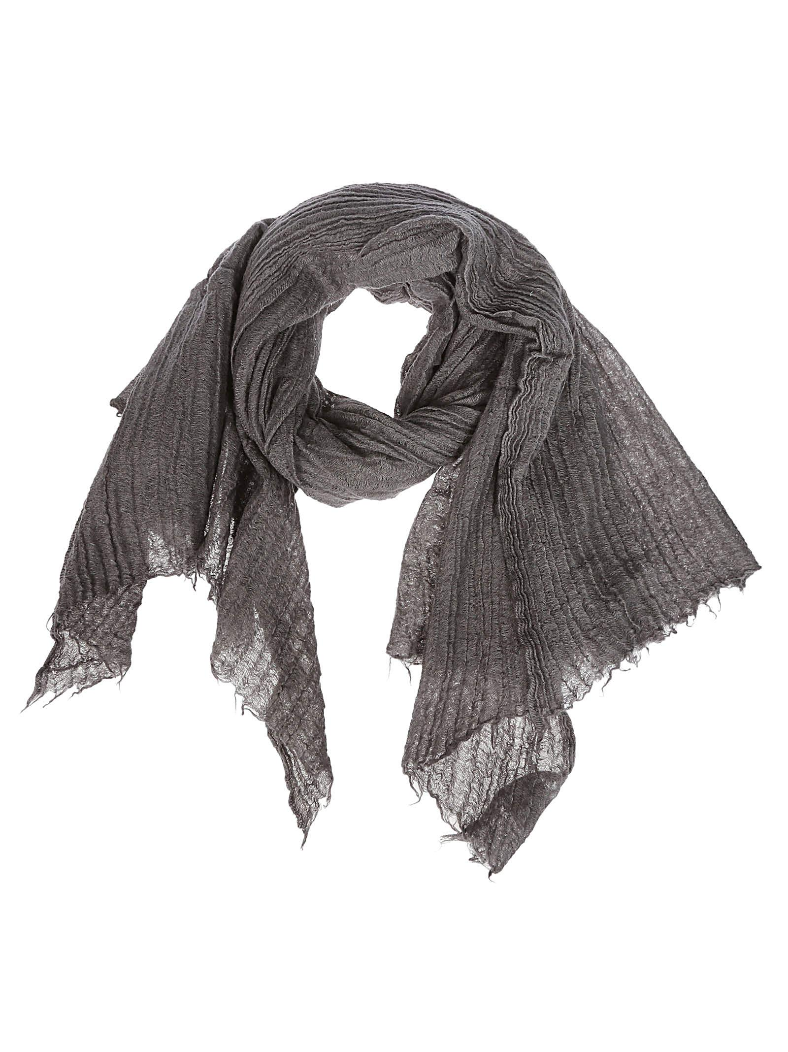 DESTIN SURL Destin Frayed Scarf in Grey