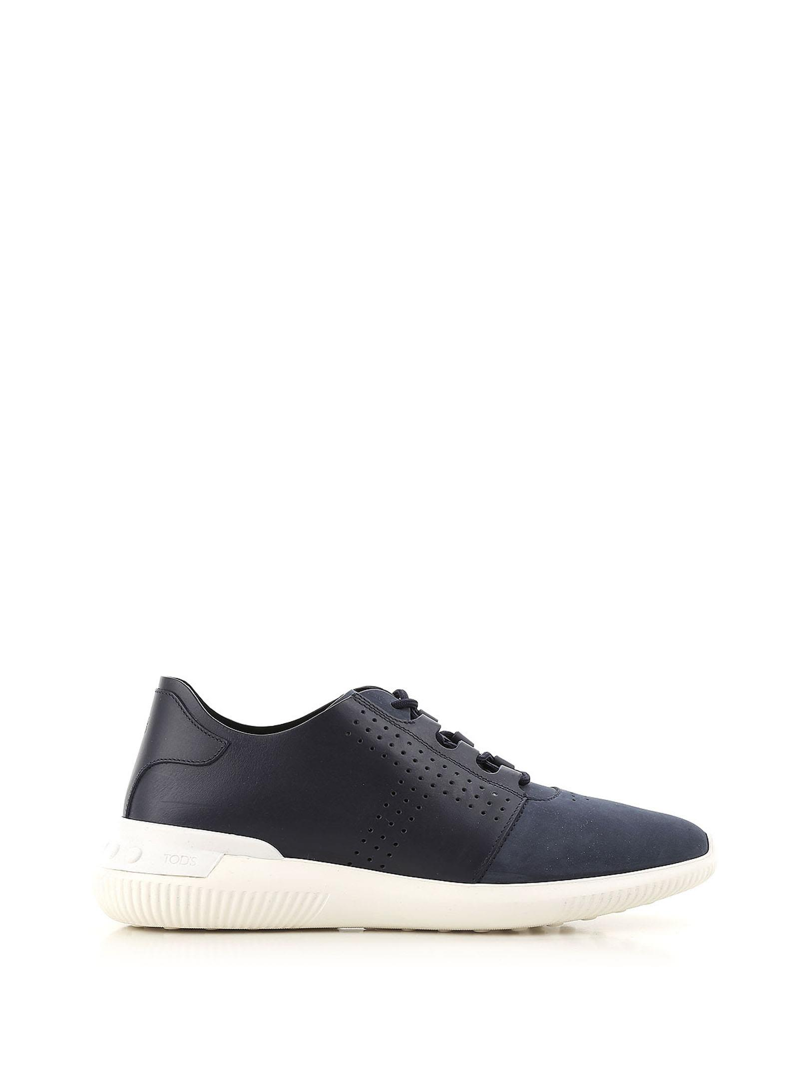 TOD'S NO CODE SNEAKERS IN LEATHER AND NUBUCK