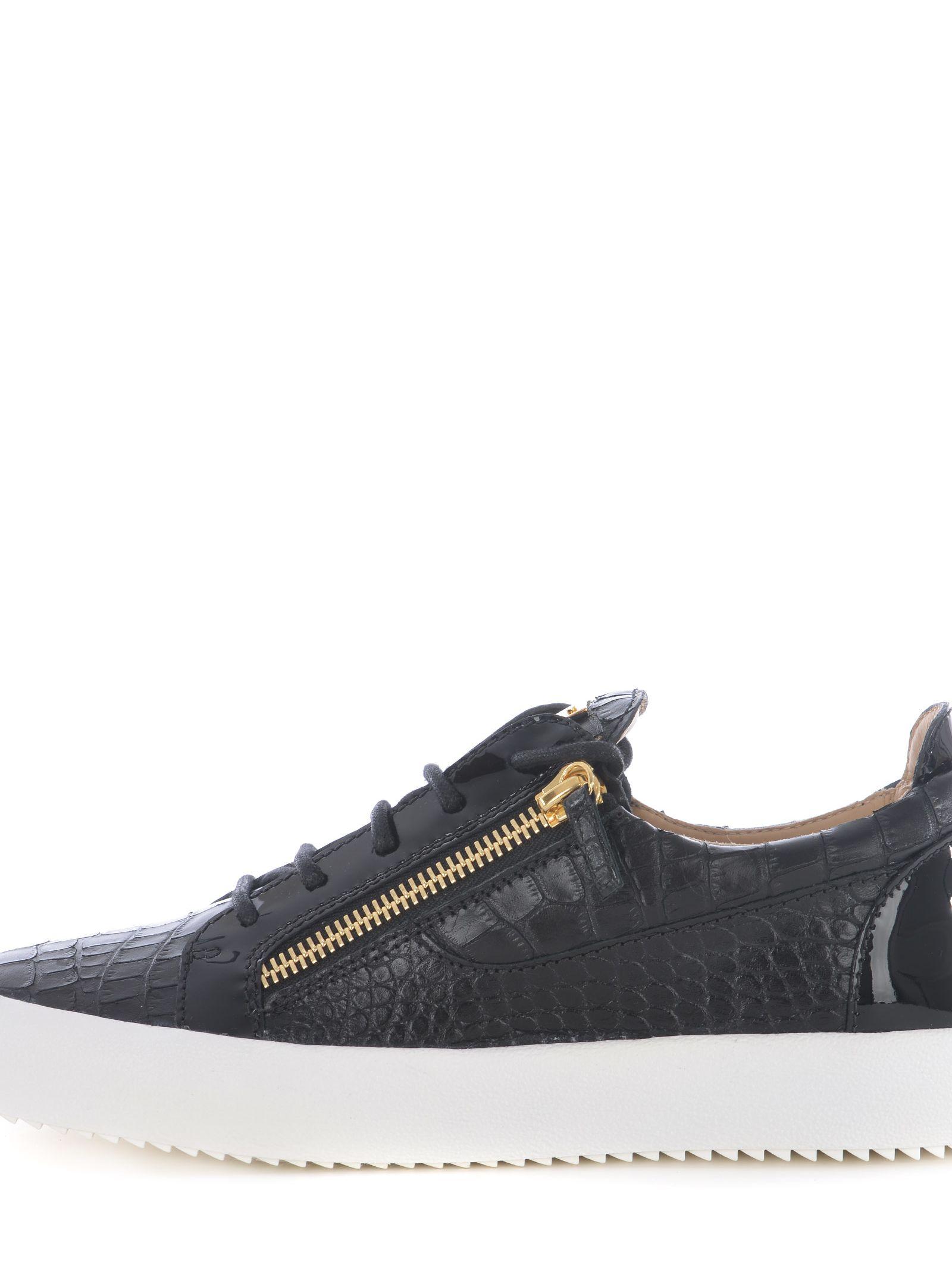 Giuseppe Zanotti Crocodile-embossed leather sneaker FRANKIE 5Ad8LbkB