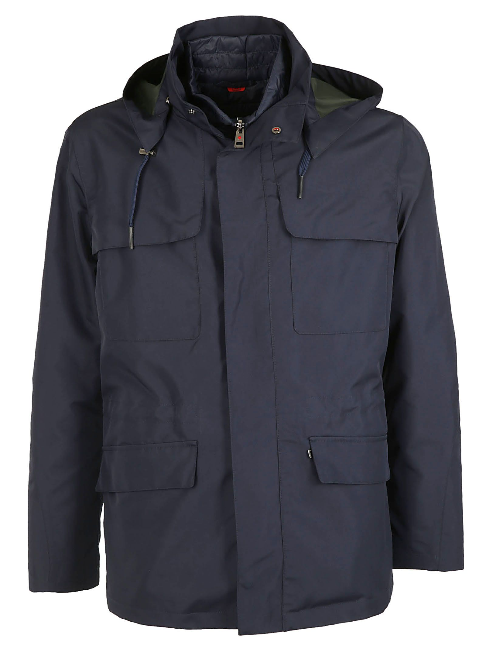 KIRED Zipped Coat in Blu/Verde