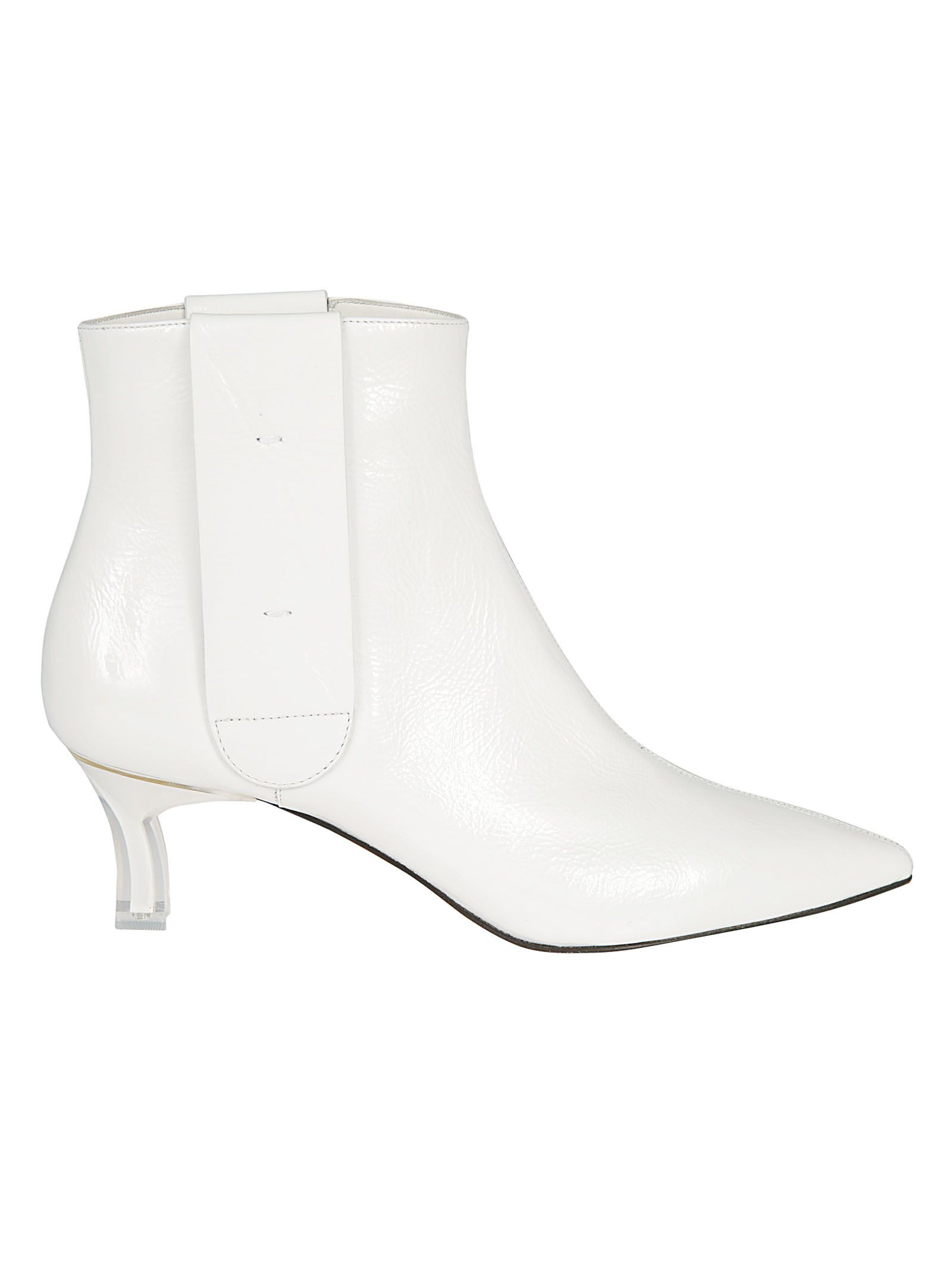 Plexi Blade Heel Ankle Boots, Bianco from CASADEI