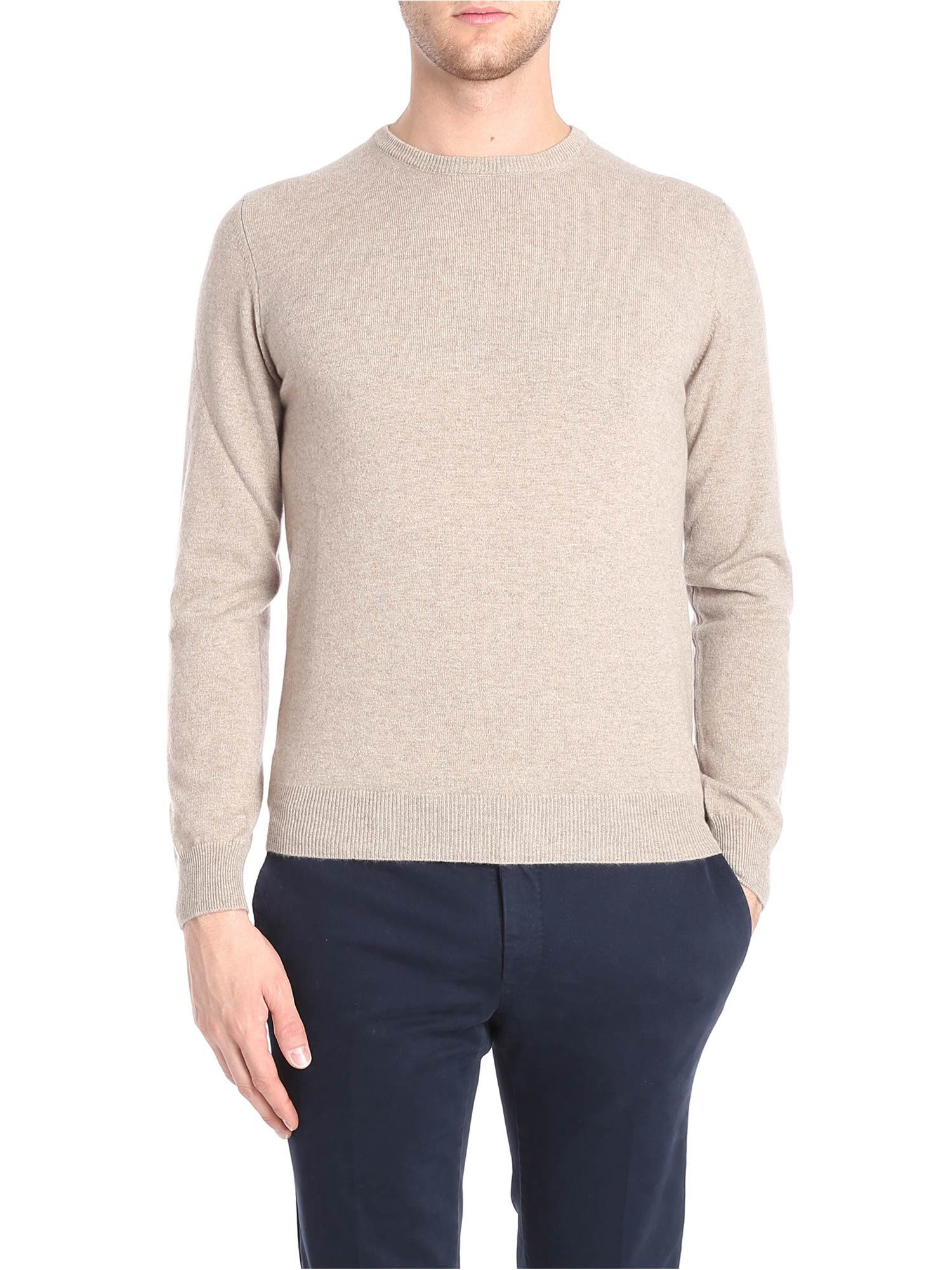 LUIGI BORRELLI Knitted Sweater in Beige