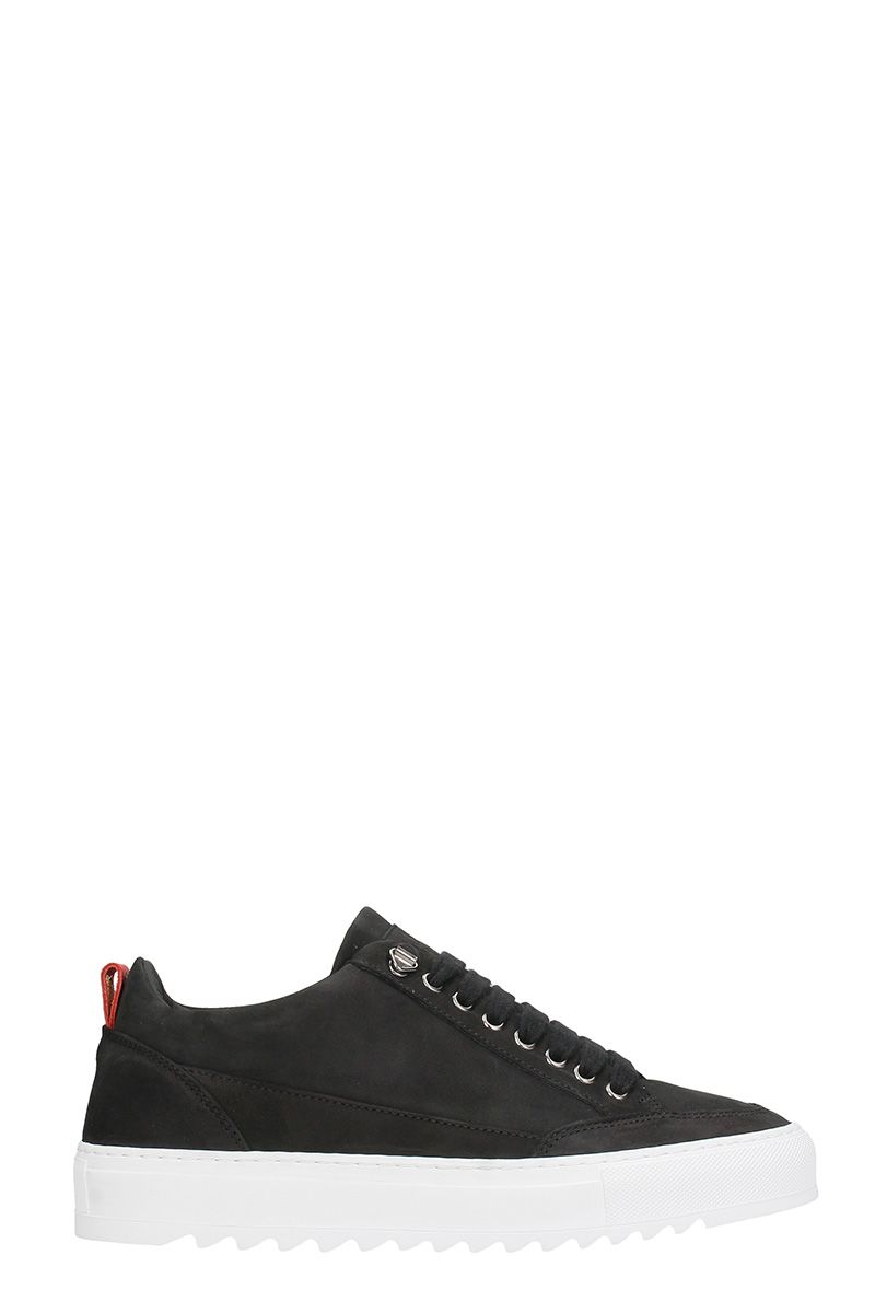MASON GARMENTS Black Nabuk Sneakers