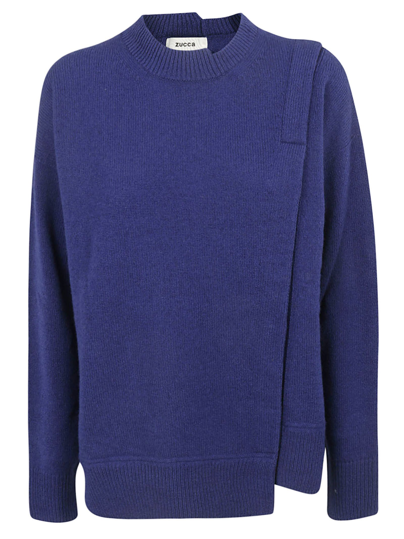 ZUCCA Crew Neck Sweater in Bluette