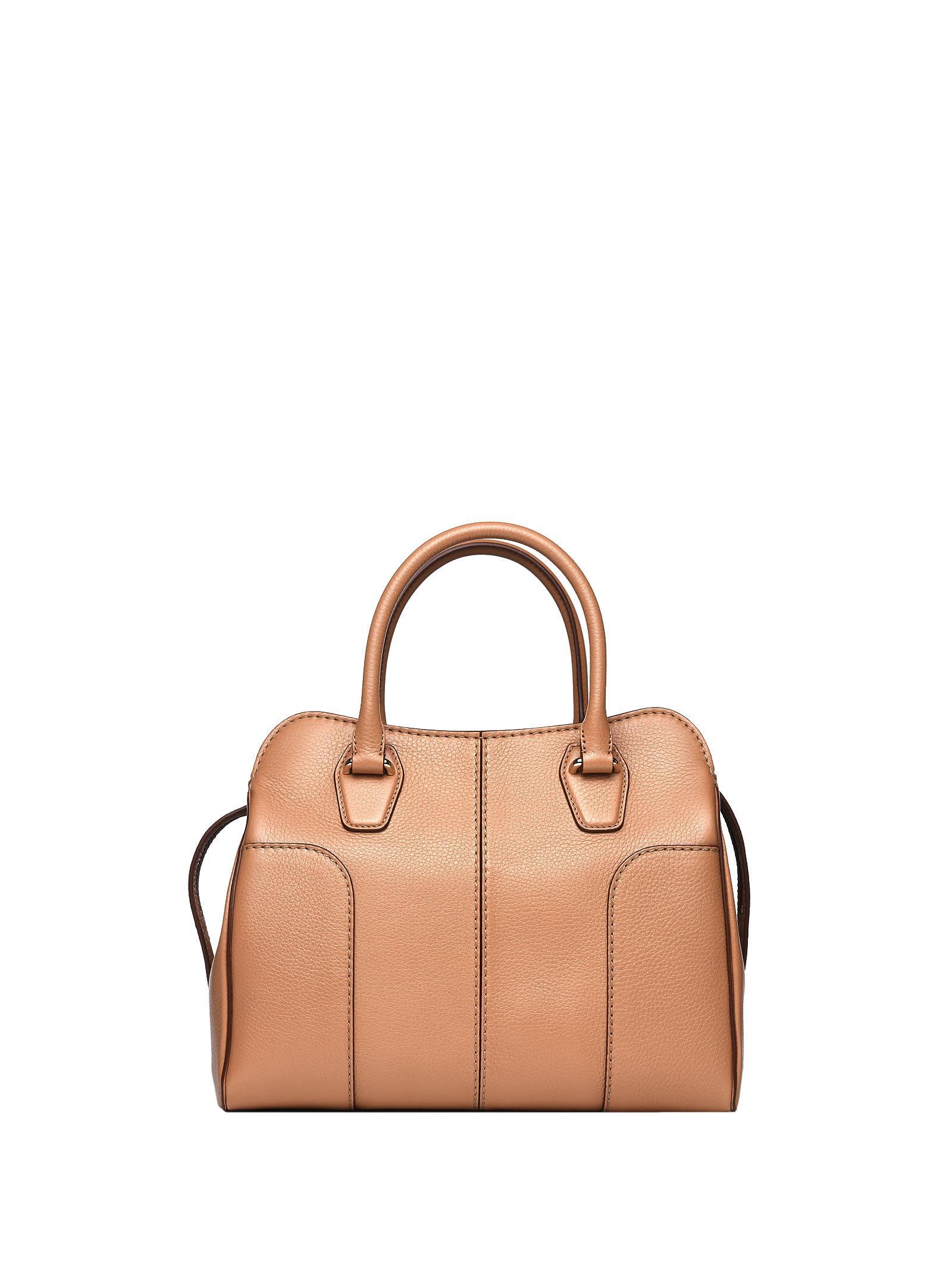 Sella Handle Bag In Light Tobacco Leather, Tabacco Chiaro
